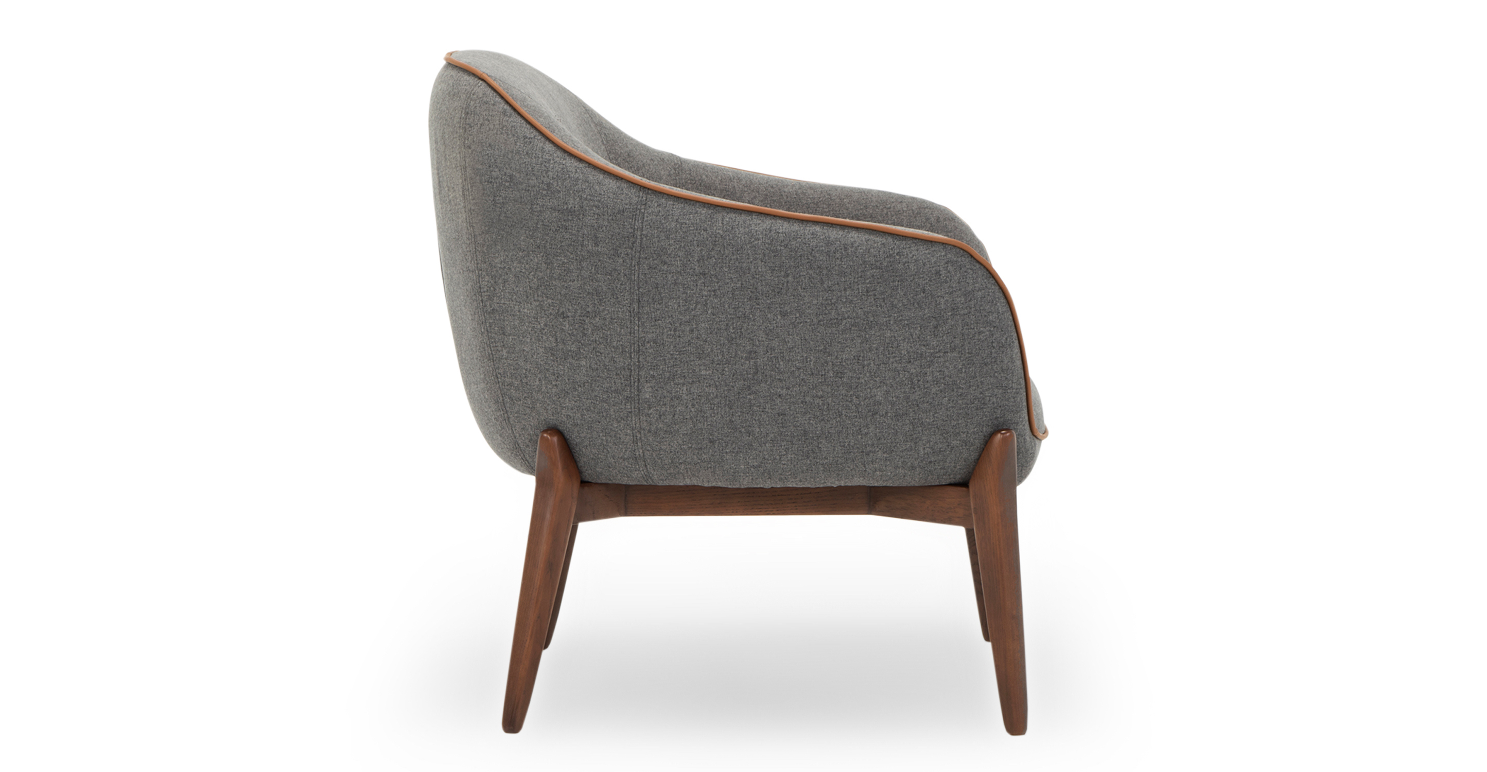 """Laird 28"""" Fabric Chair, Nickel"""