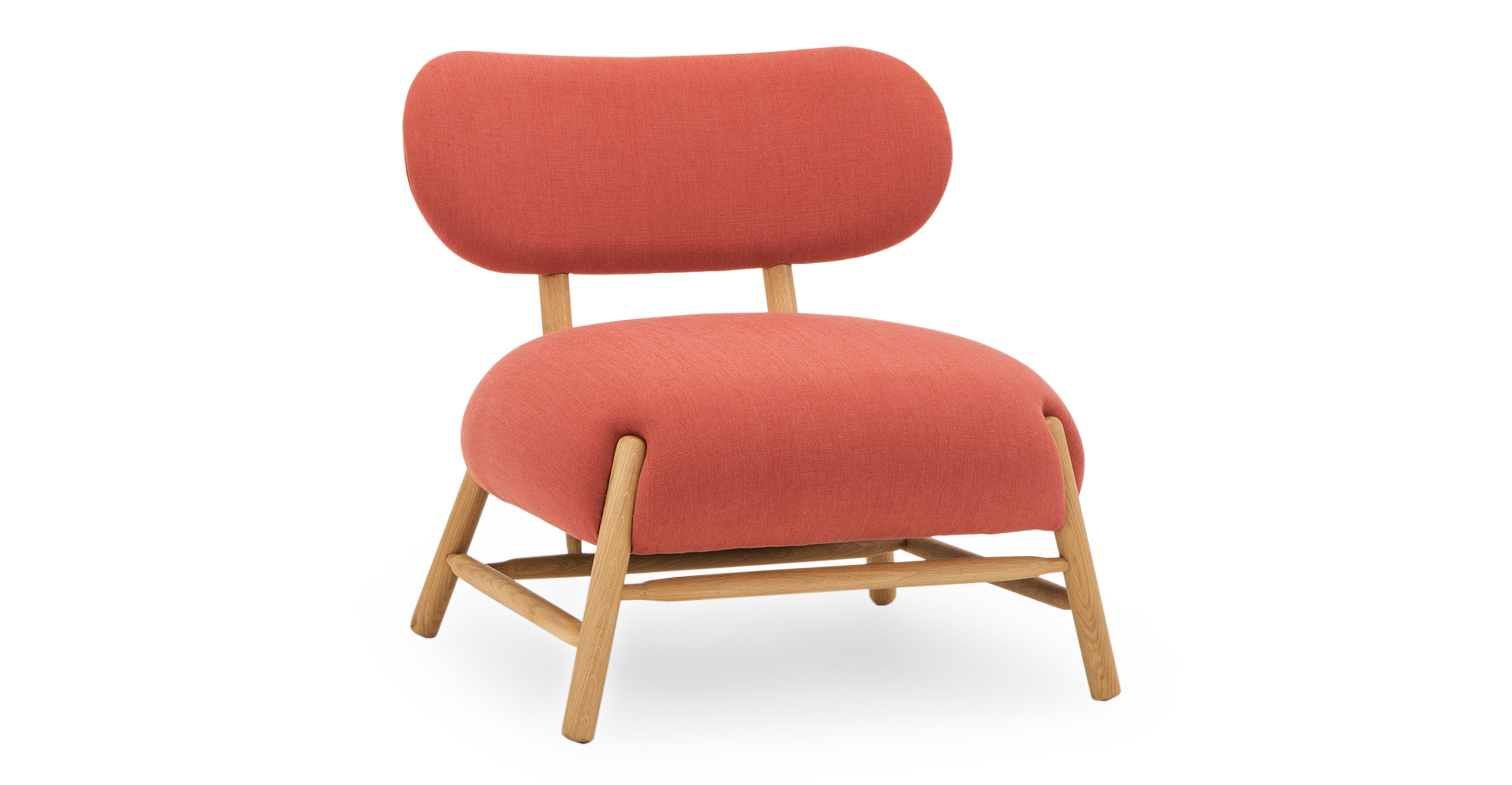 """Mouse 33"""" Fabric Chair, Terracotta"""