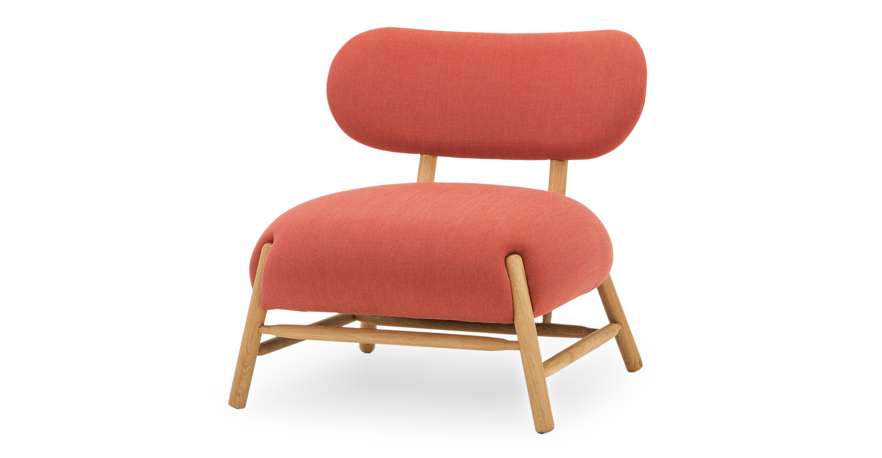 "Mouse 33"" Fabric Chair, Terracotta"