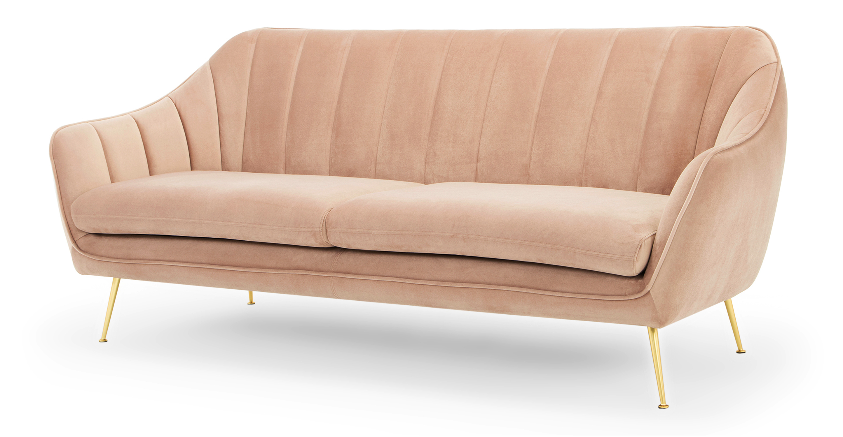 "Kendall 82"" Fabric Sofa, Enchant Velvet"