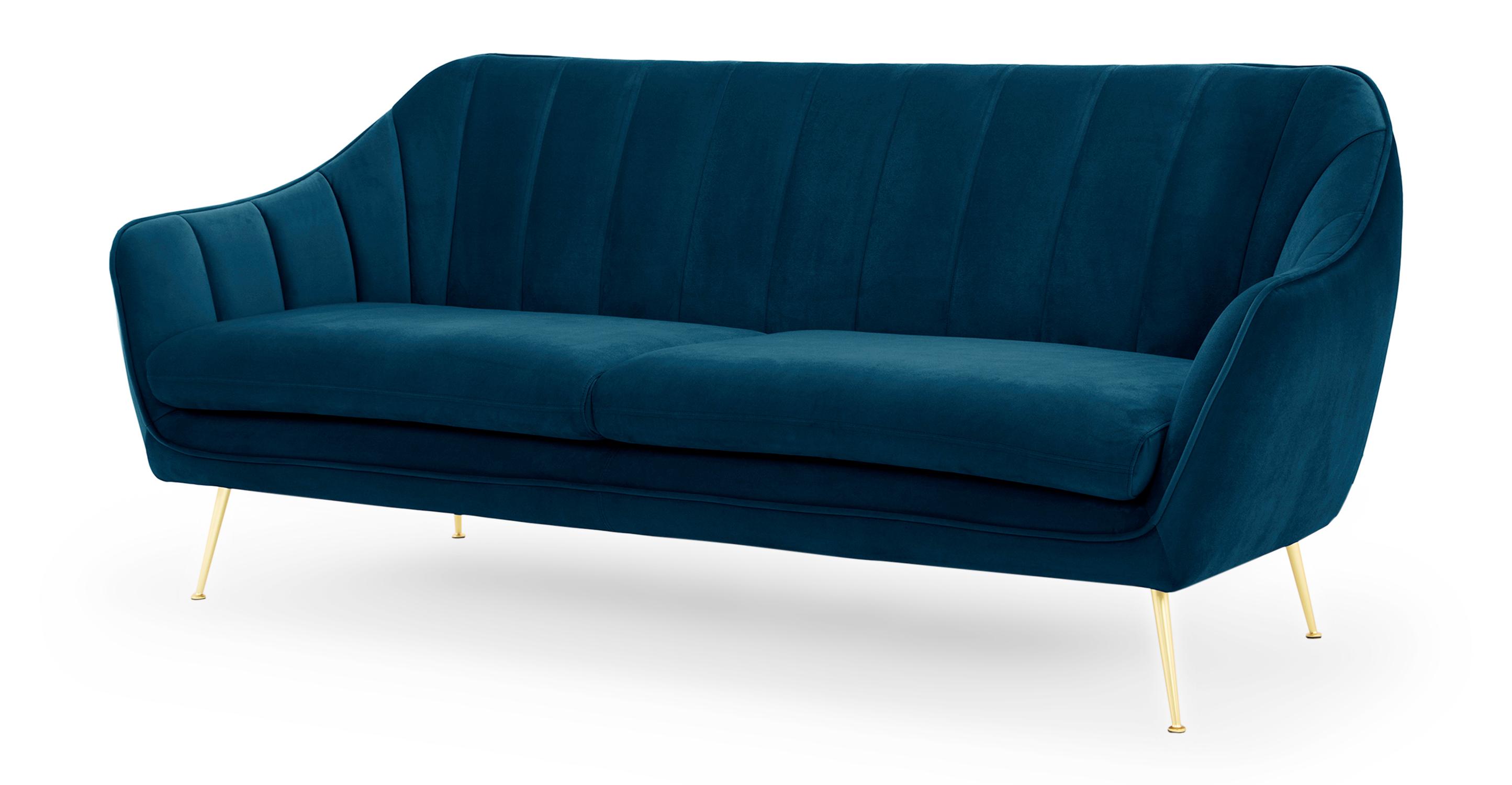 """Kendall 82"""" Fabric Sofa, Revel Velvet"""