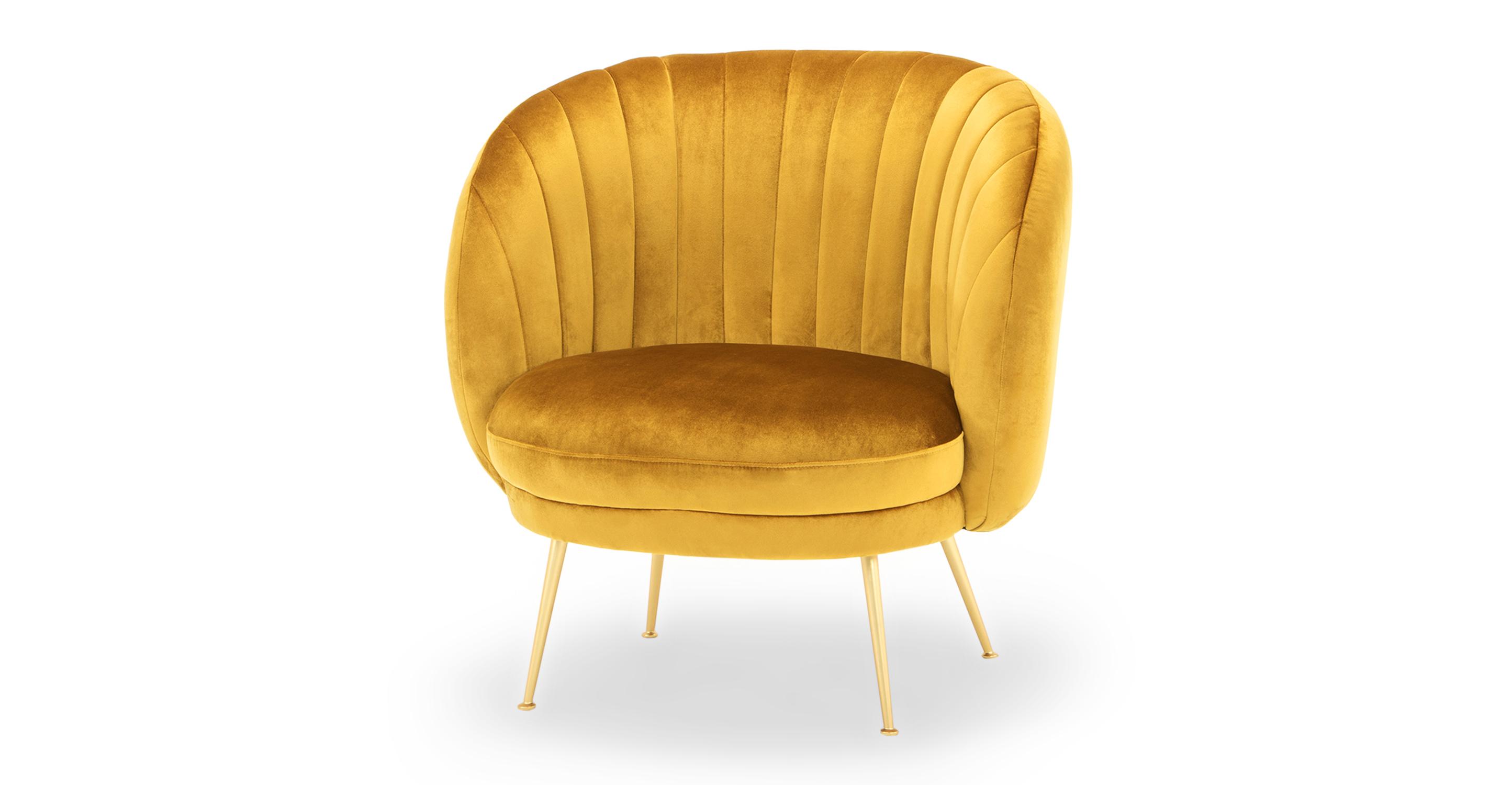 "Tux 38"" Fabric Chair, Dazzle Velvet"