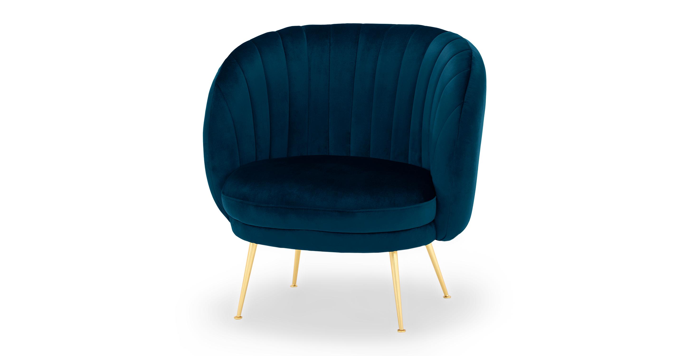 """Tux 38"""" Fabric Chair, Revel Velvet"""