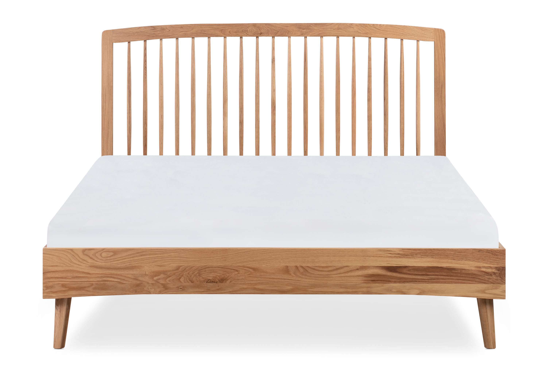 Spindle Bed Queen, Natural Oak