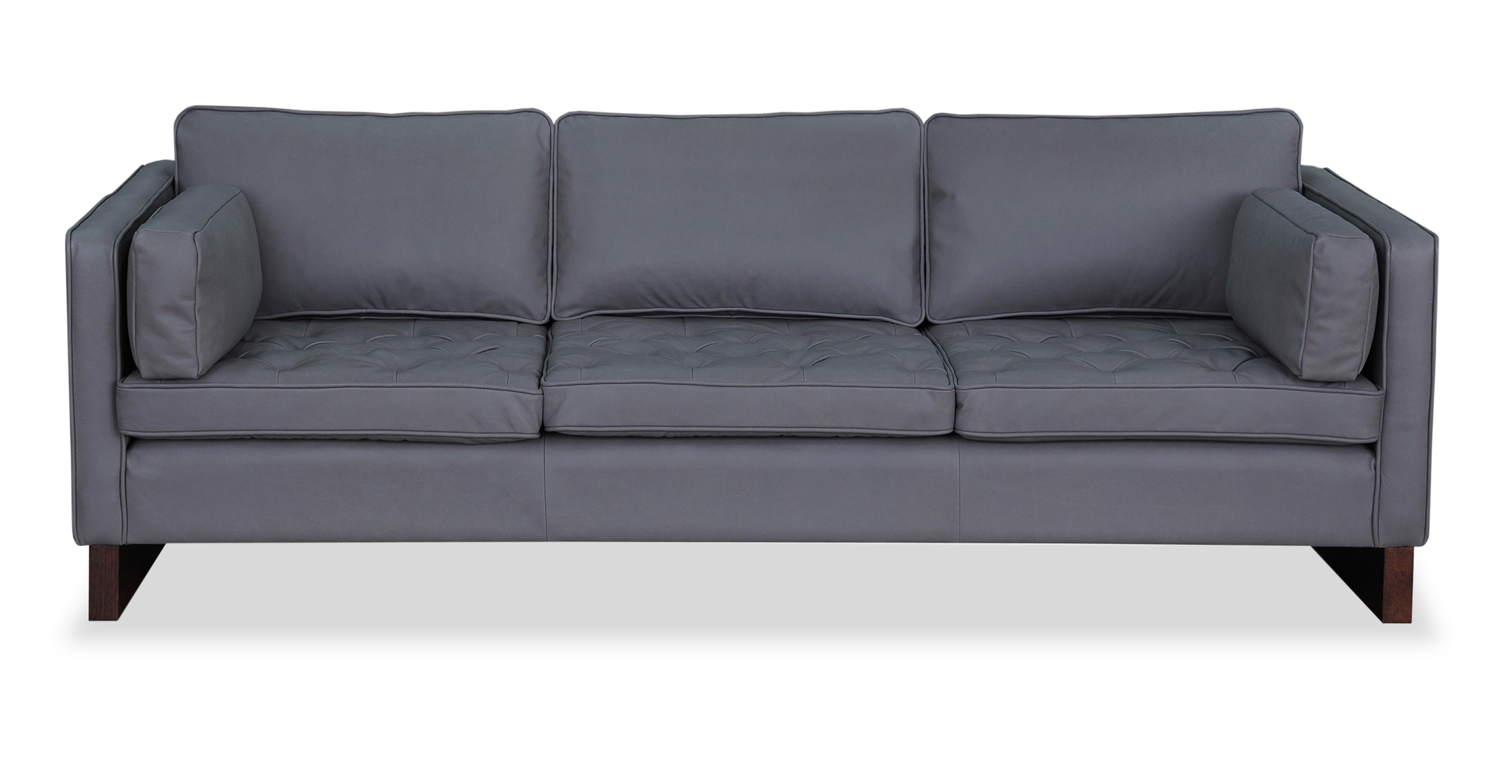 "Wexler 87"" Leather Sofa, Napoli Stone"