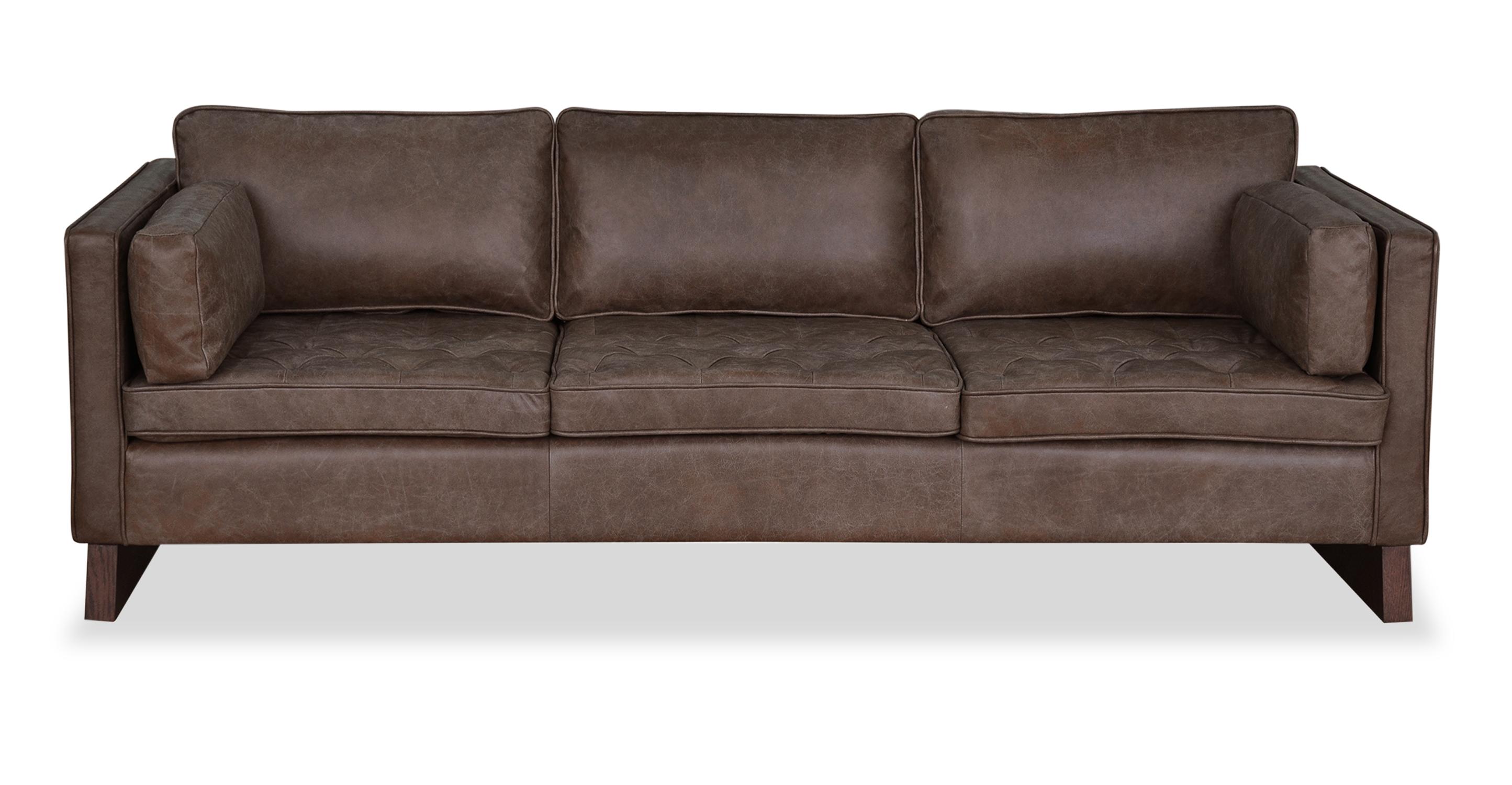 """Wexler 87"""" Leather Sofa, Napoli Tan"""