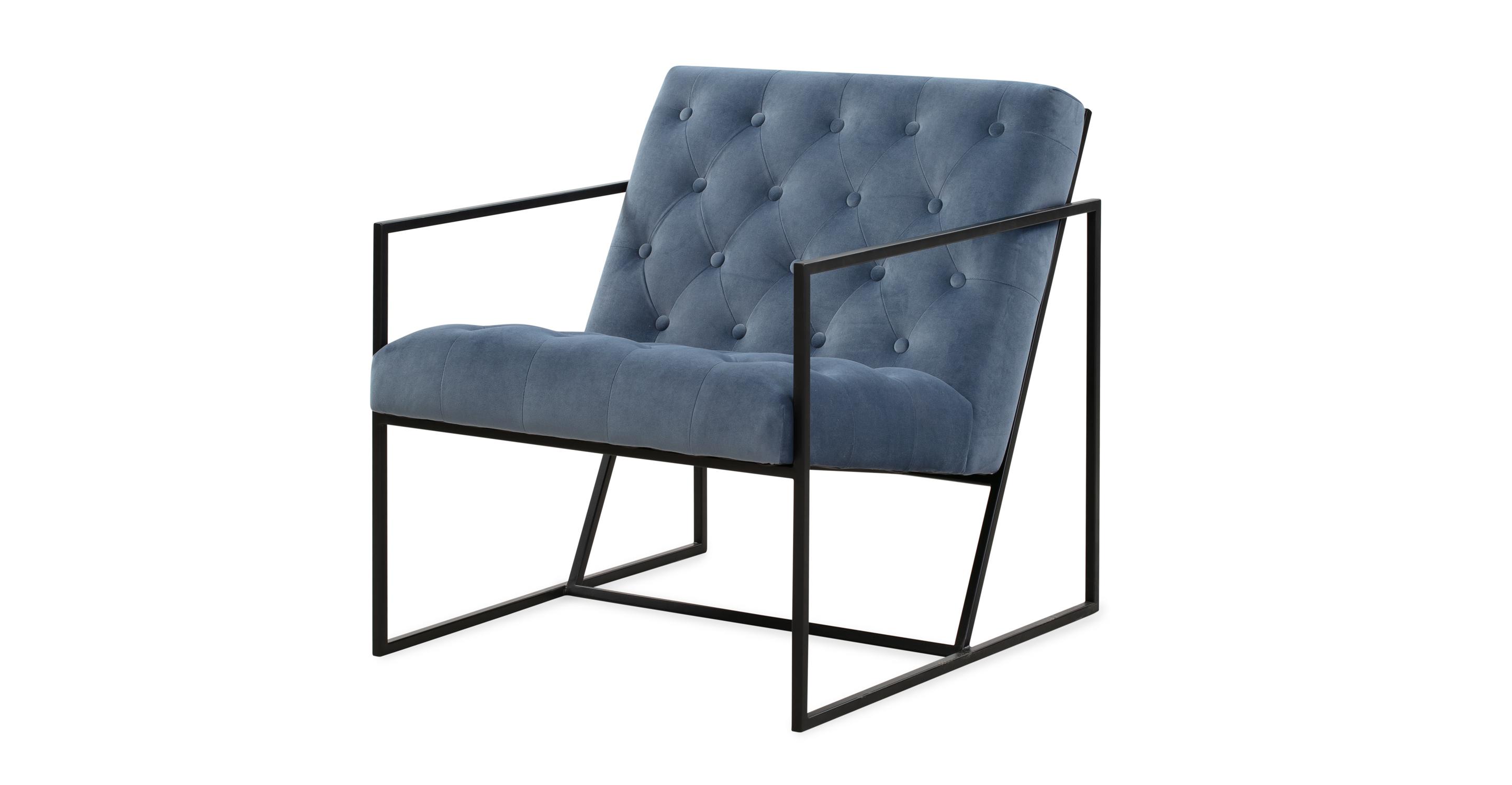 """Lawson 28"""" Fabric Chair, Black/Celestial Velvet"""