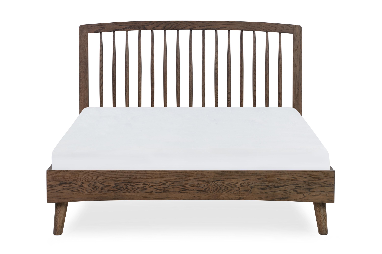 Spindle Bed Queen, Oak Smoke