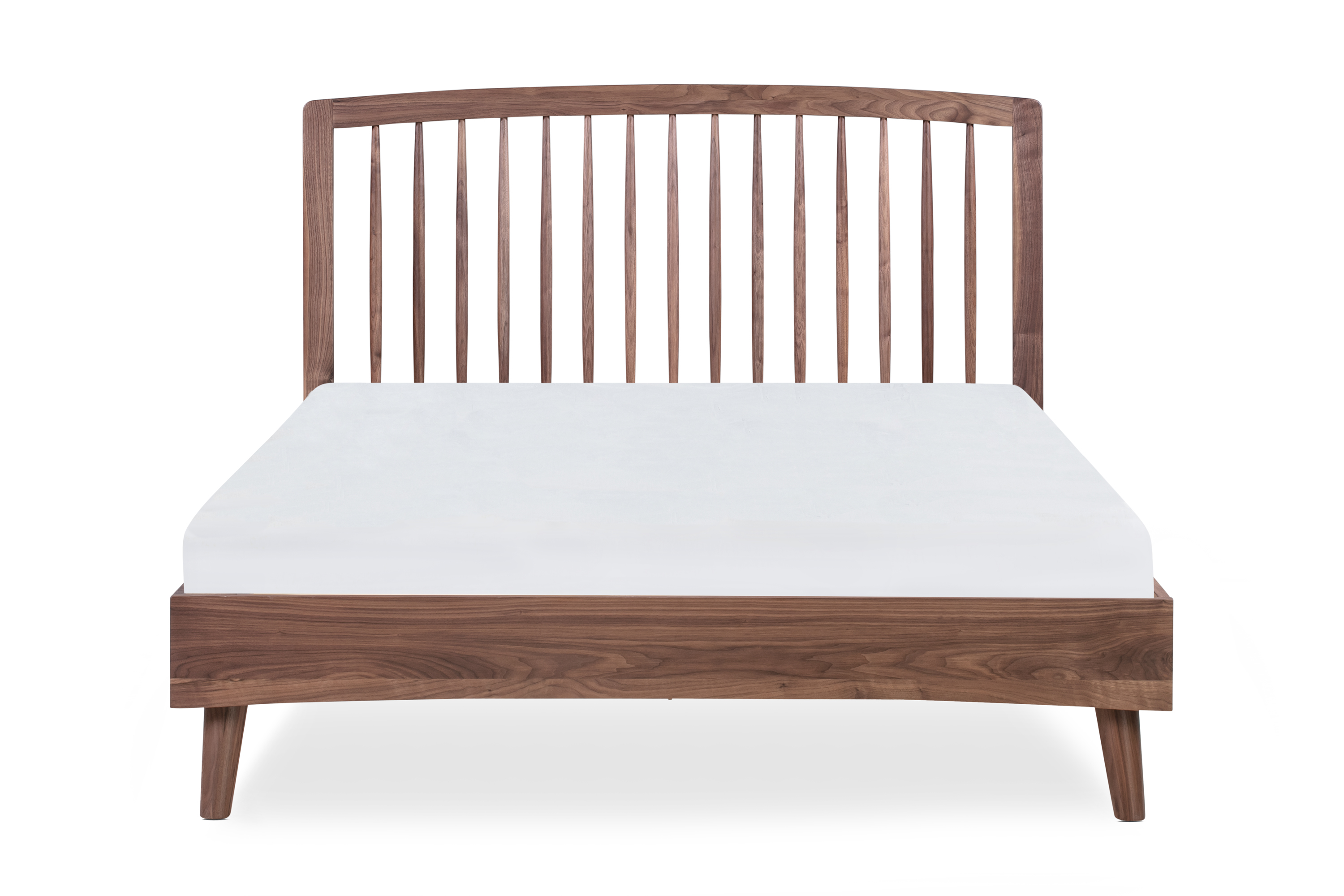 Spindle Bed Queen, Walnut