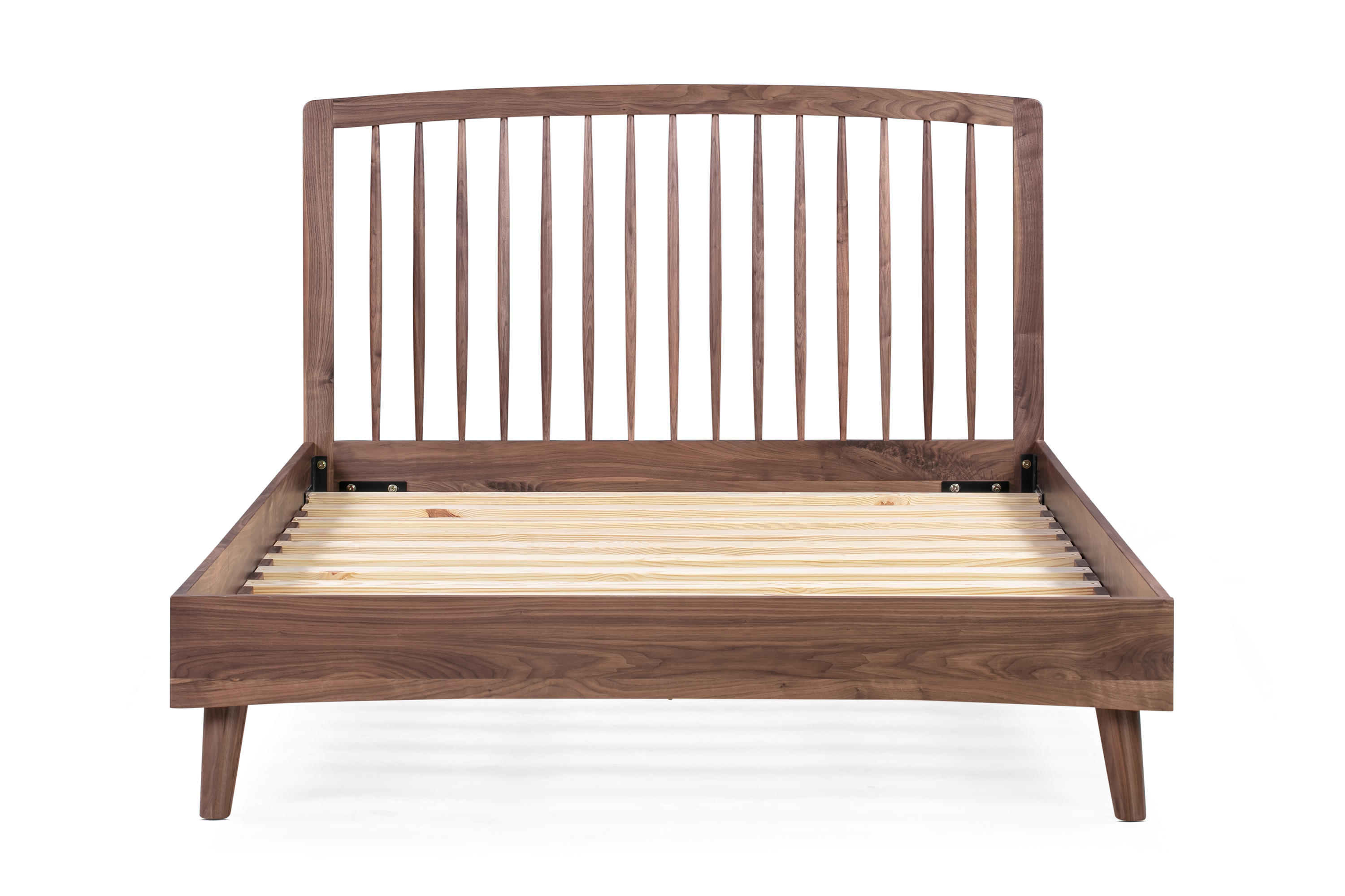 Picture of: Spindle Bed Queen Walnut Kardiel