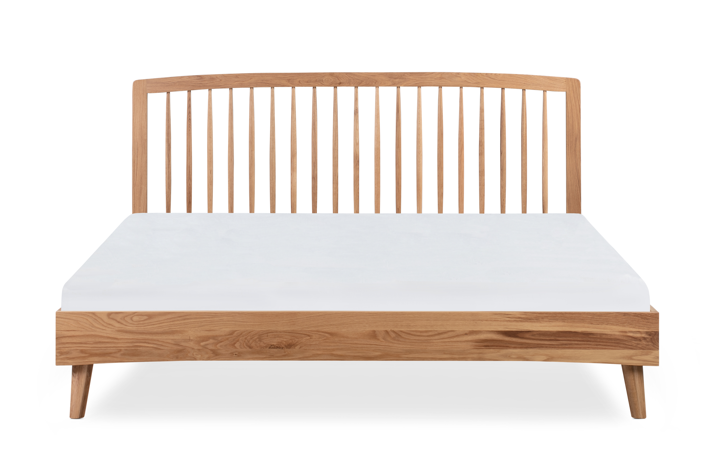 Spindle Bed King, Natural Oak