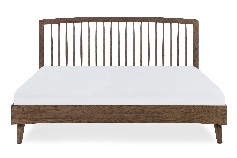 Spindle Bed King, Oak Smoke