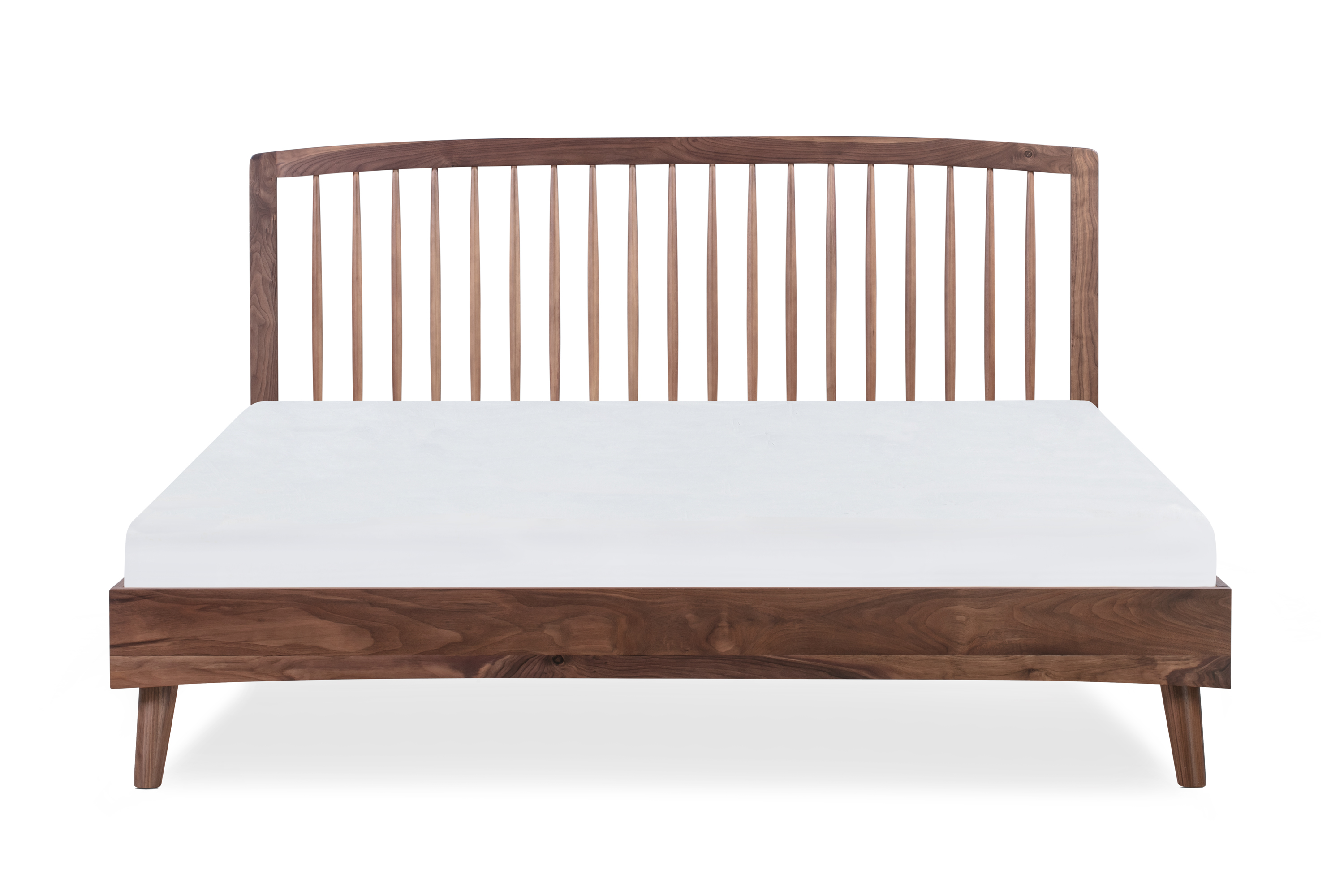 Spindle Bed King, Walnut