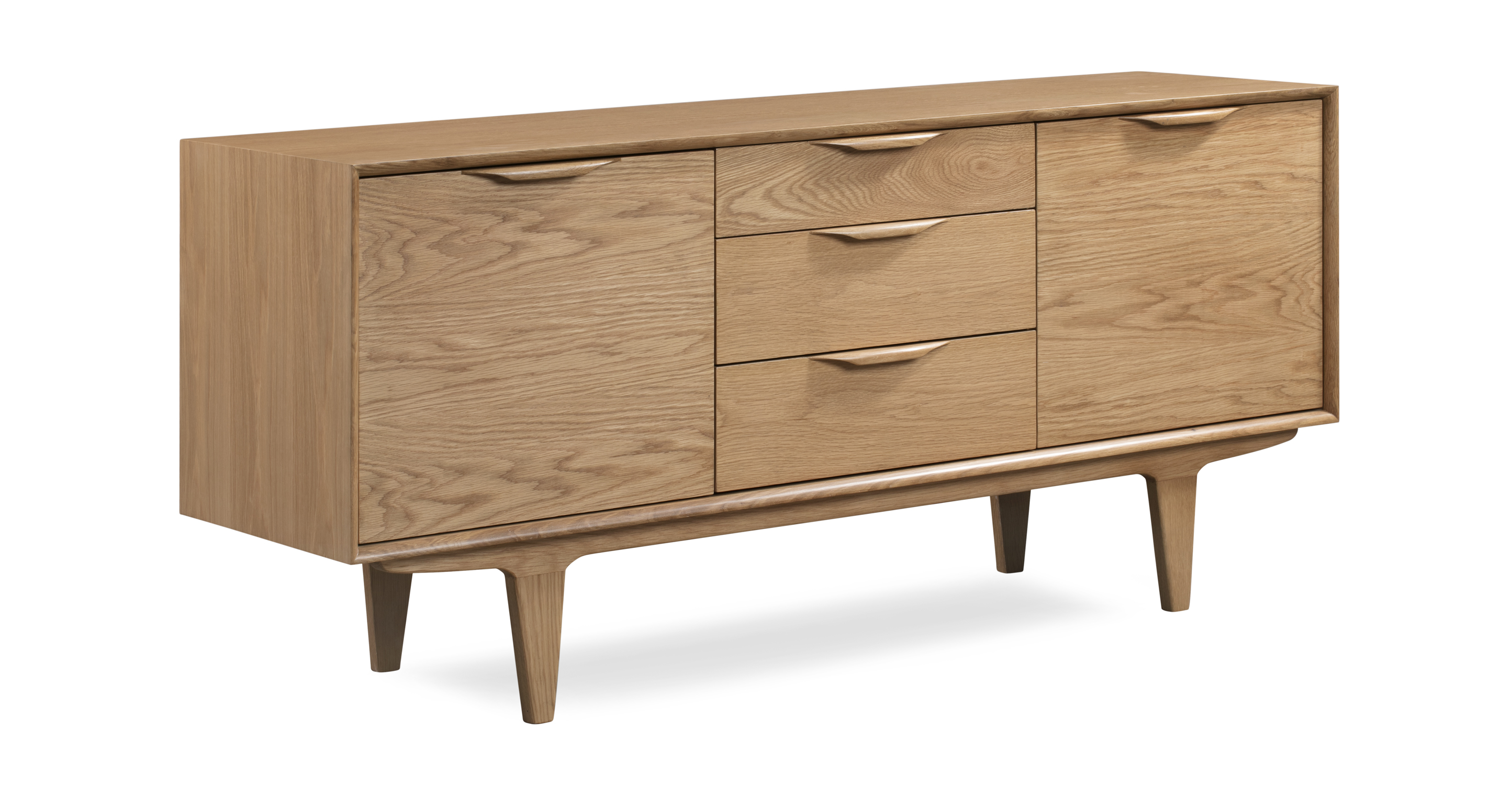 "Rolluk 68"" Sideboard, Natural Oak"