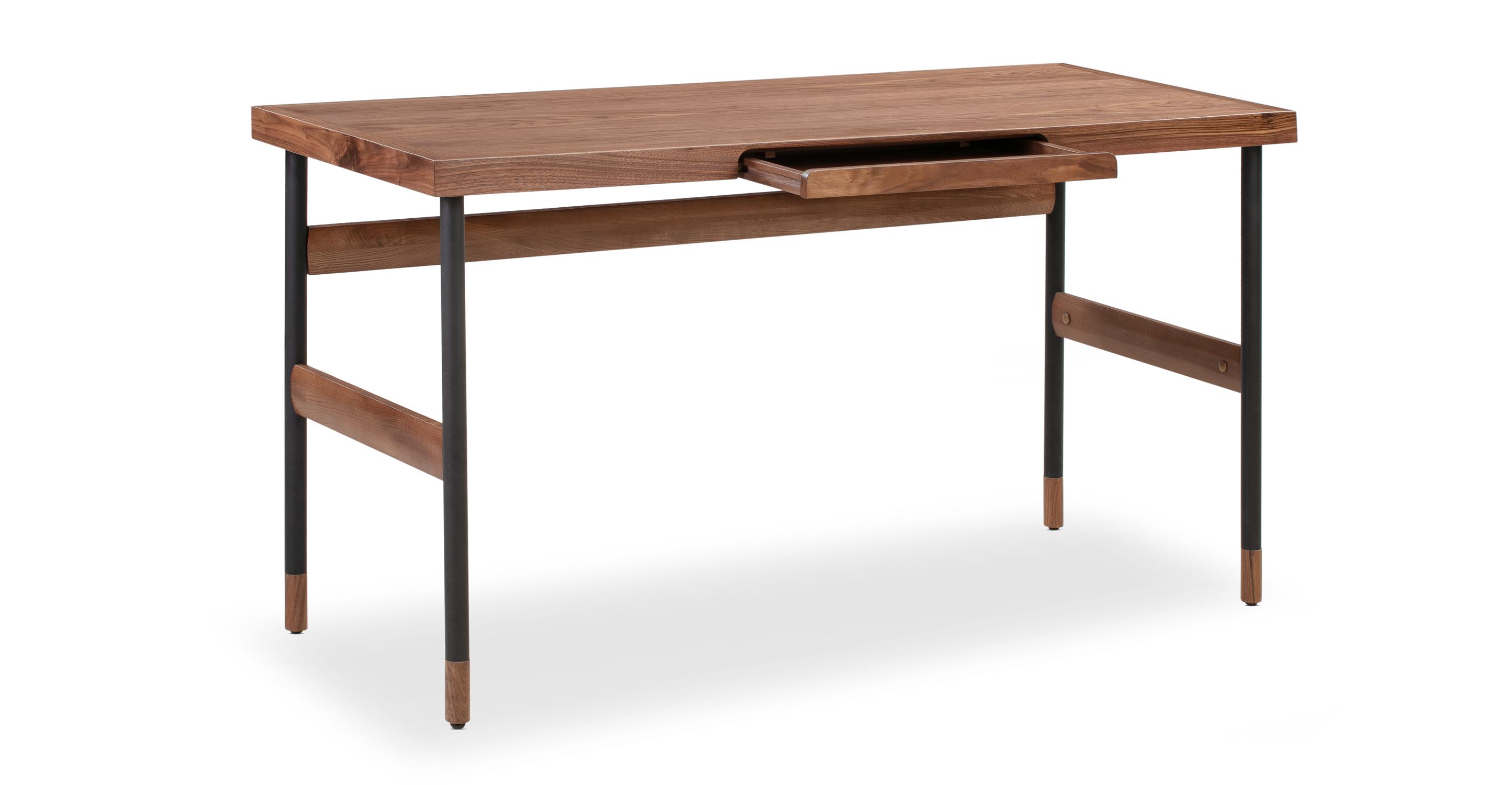 """Urbane 55"""" Writing Desk, Walnut"""