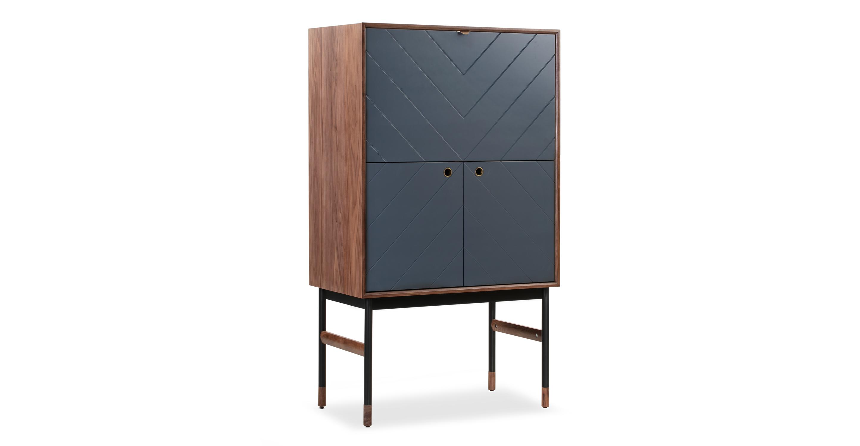 "Urbane 35"" Bar Cabinet, Walnut"