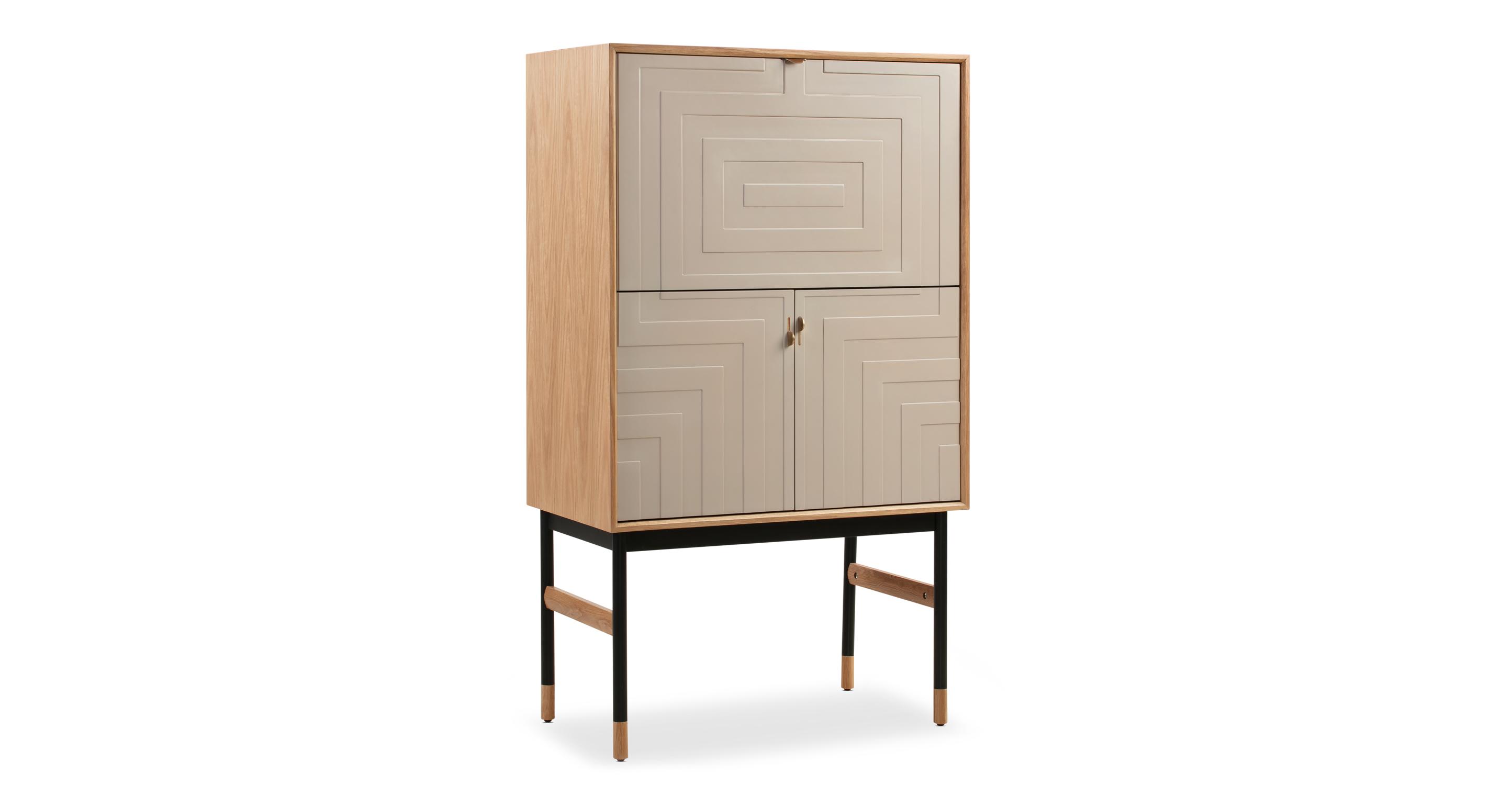 "Urbane 35"" Bar Cabinet, Natural Oak"