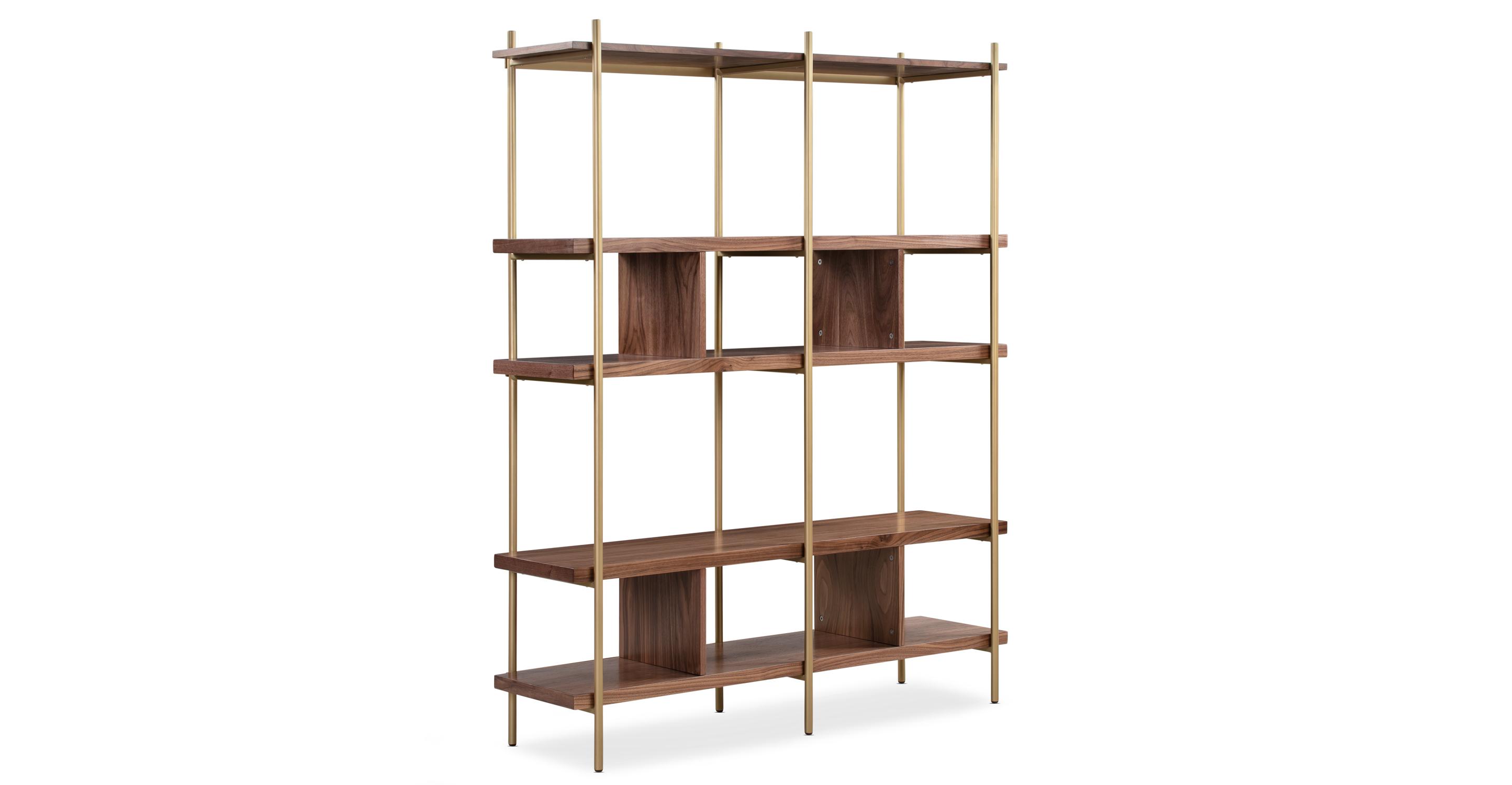 "Urbane 51"" Bookshelf, Walnut"