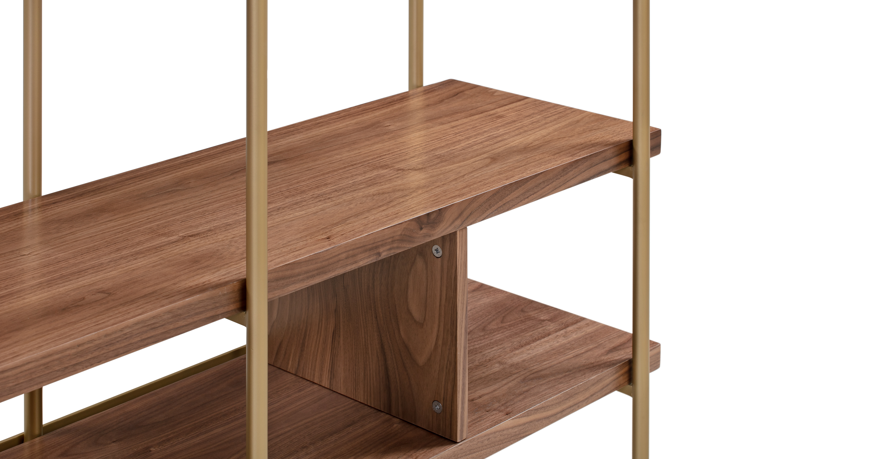 "Urbane 51"" Bookshelf, Walnut"