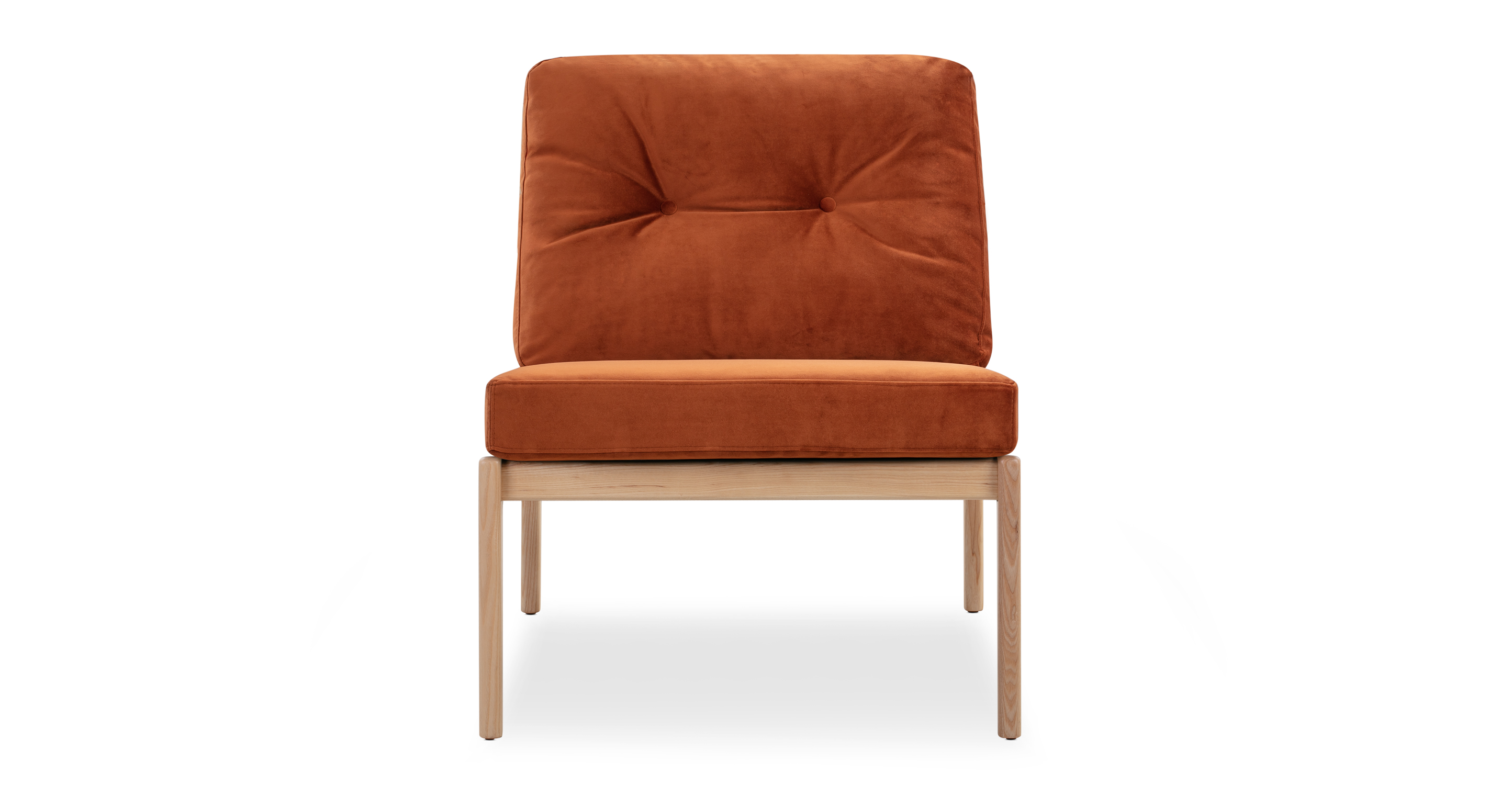 "Urbane 23"" Fabric Chair, Ash/Rust"