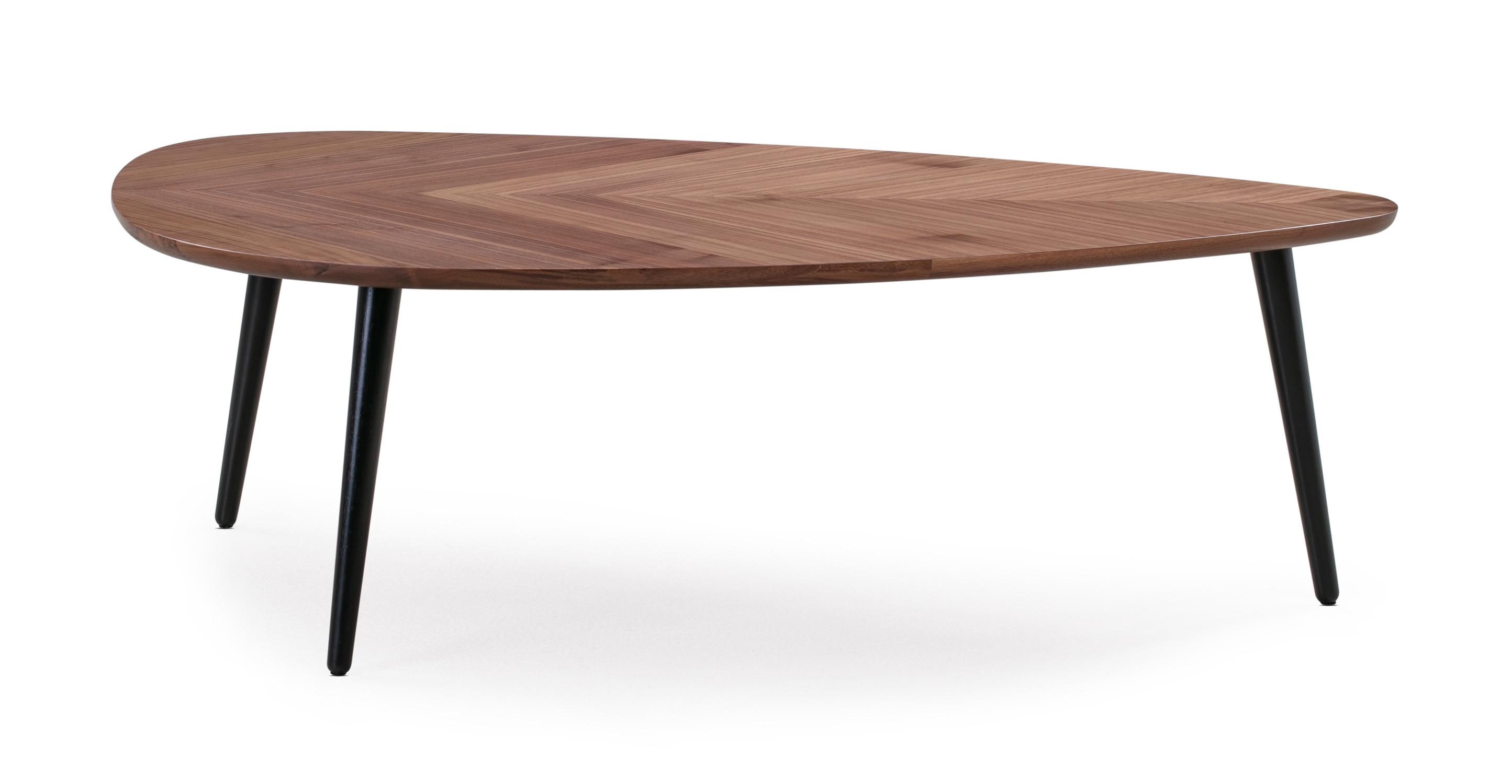 """Leaf 47"""" Coffee Table, Walnut"""