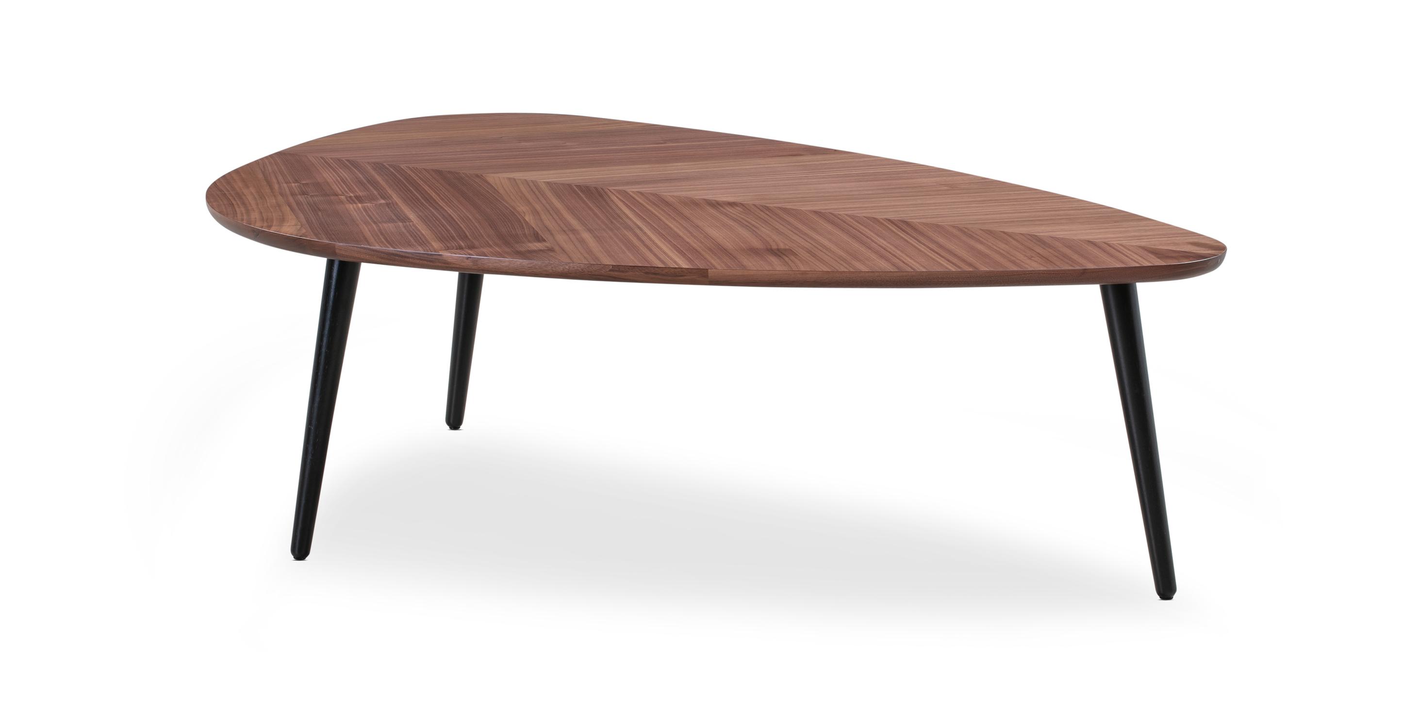 "Smiley 47"" Coffee Table, Walnut"