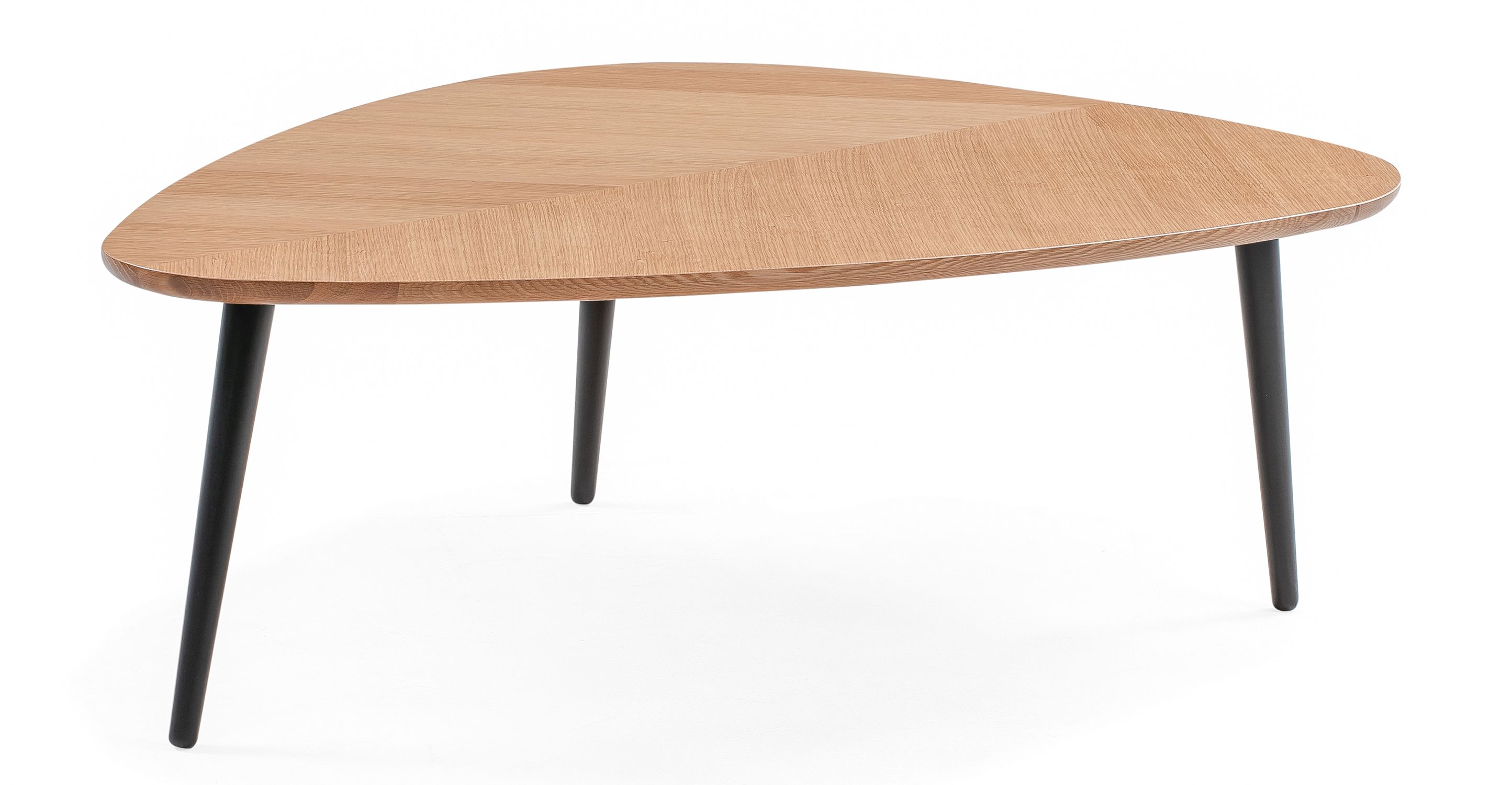 """Smiley 47"""" Coffee Table, Natural Oak"""