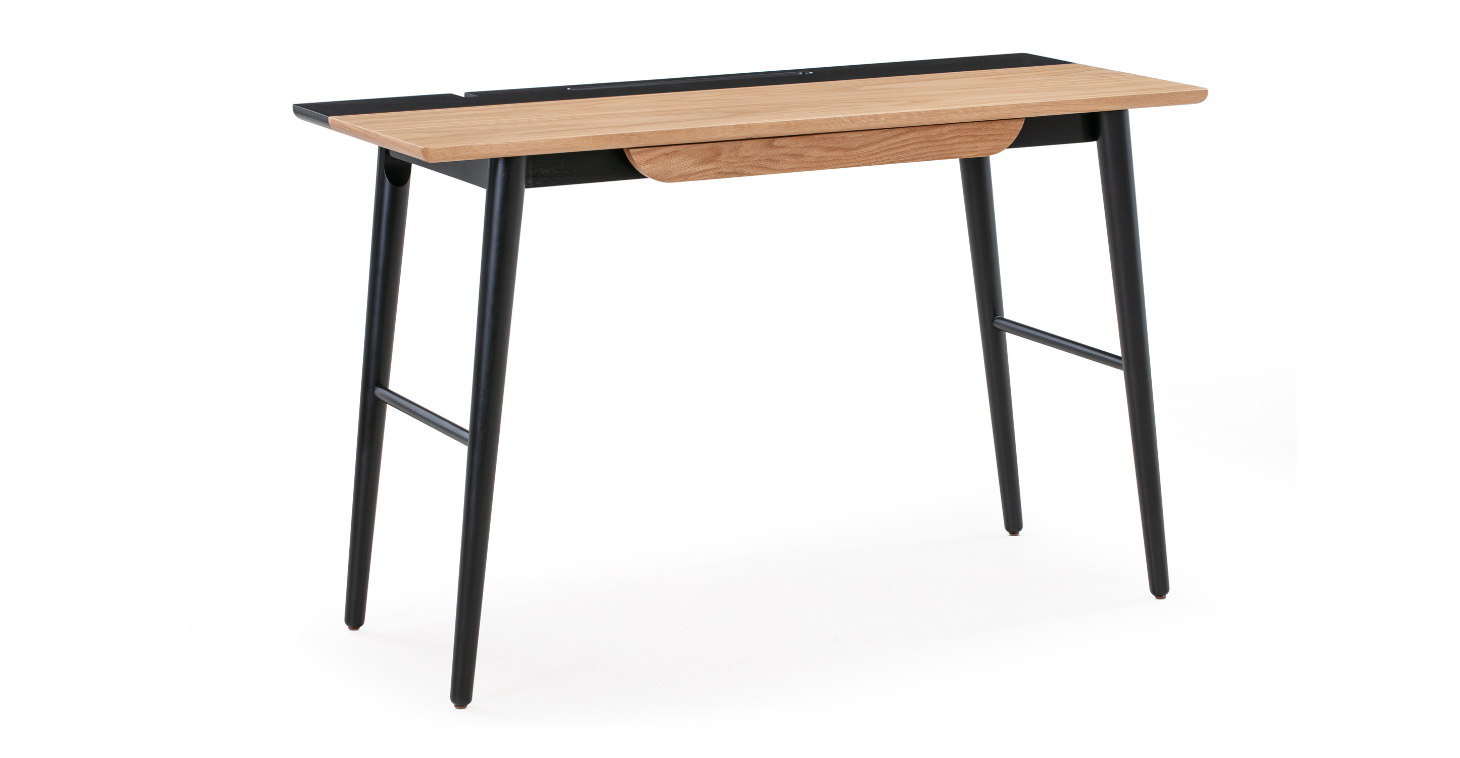 "Smiley 47"" Writing Desk, Natural Oak"