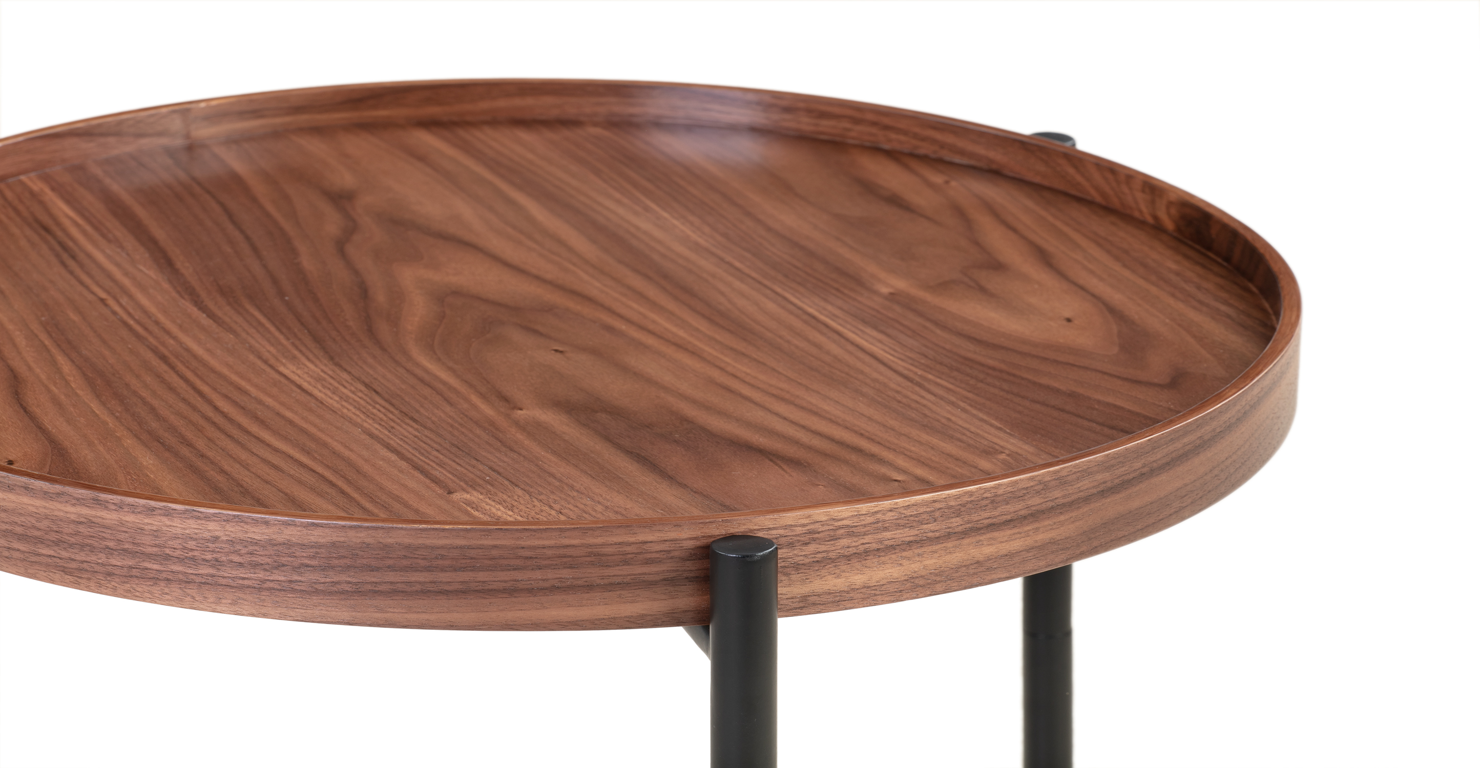 "Swell 19"" Tray Side Table, Walnut"