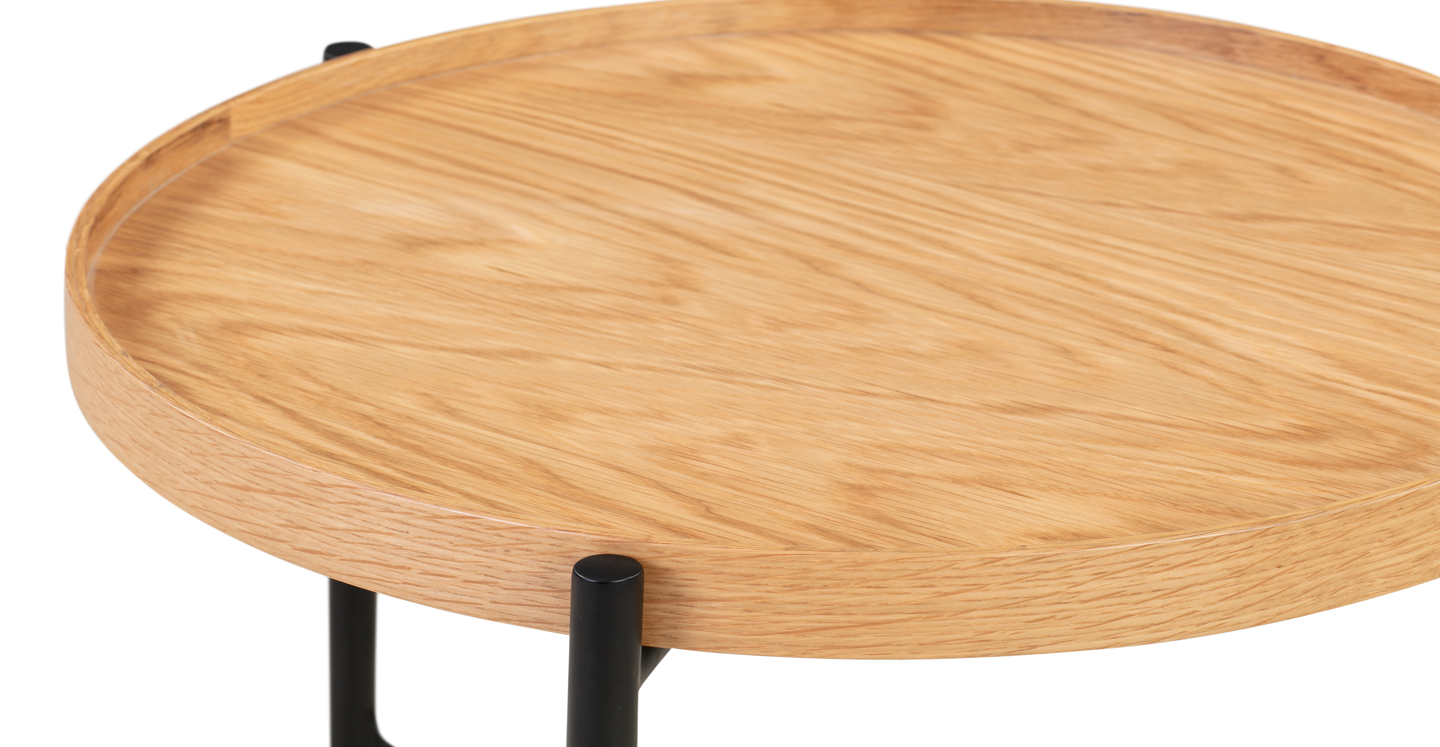 """Swell 19"""" Tray Side Table, Natural Oak"""