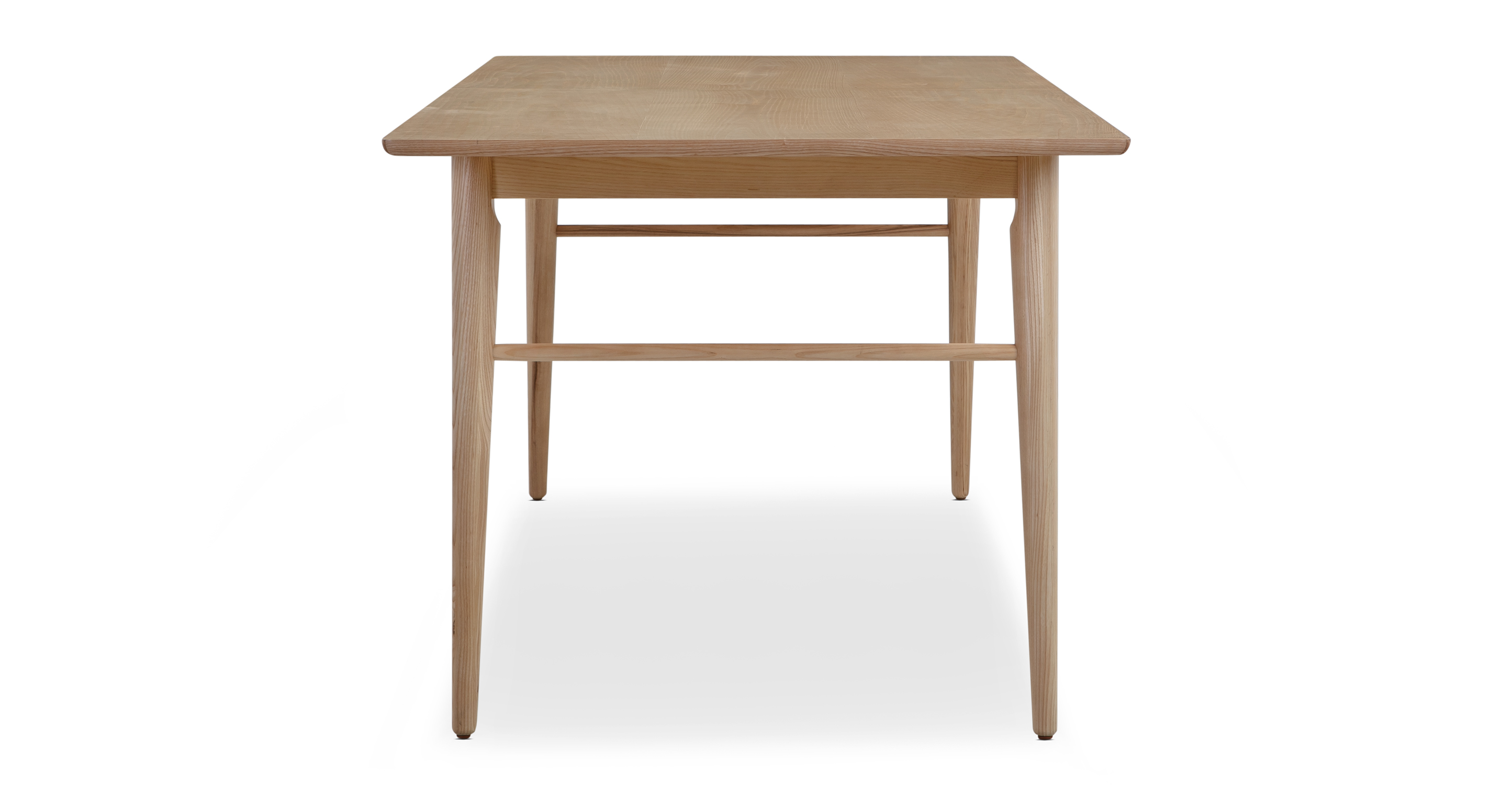"""Smiley 71-89"""" Extendable Dining Table, Ash"""