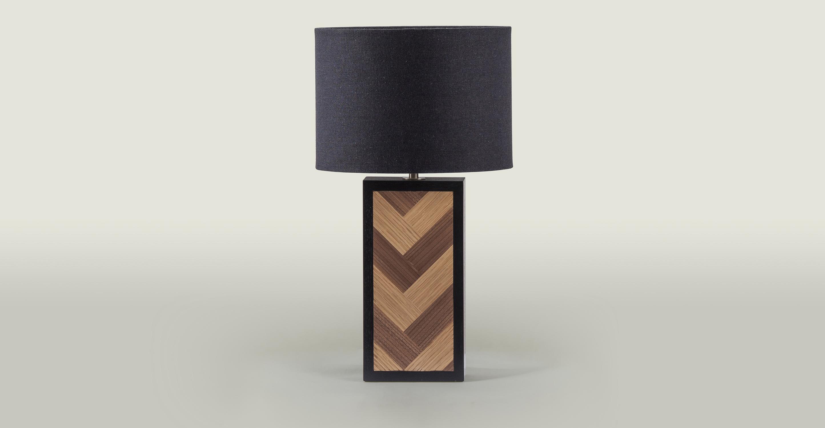 Herringbone Table Lamp, Black