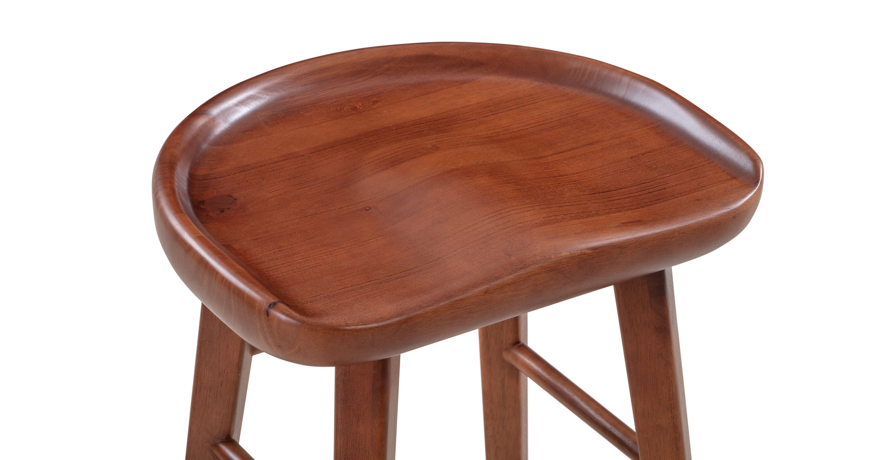 "Swell 29"" Round Barstool, Rubberwood"