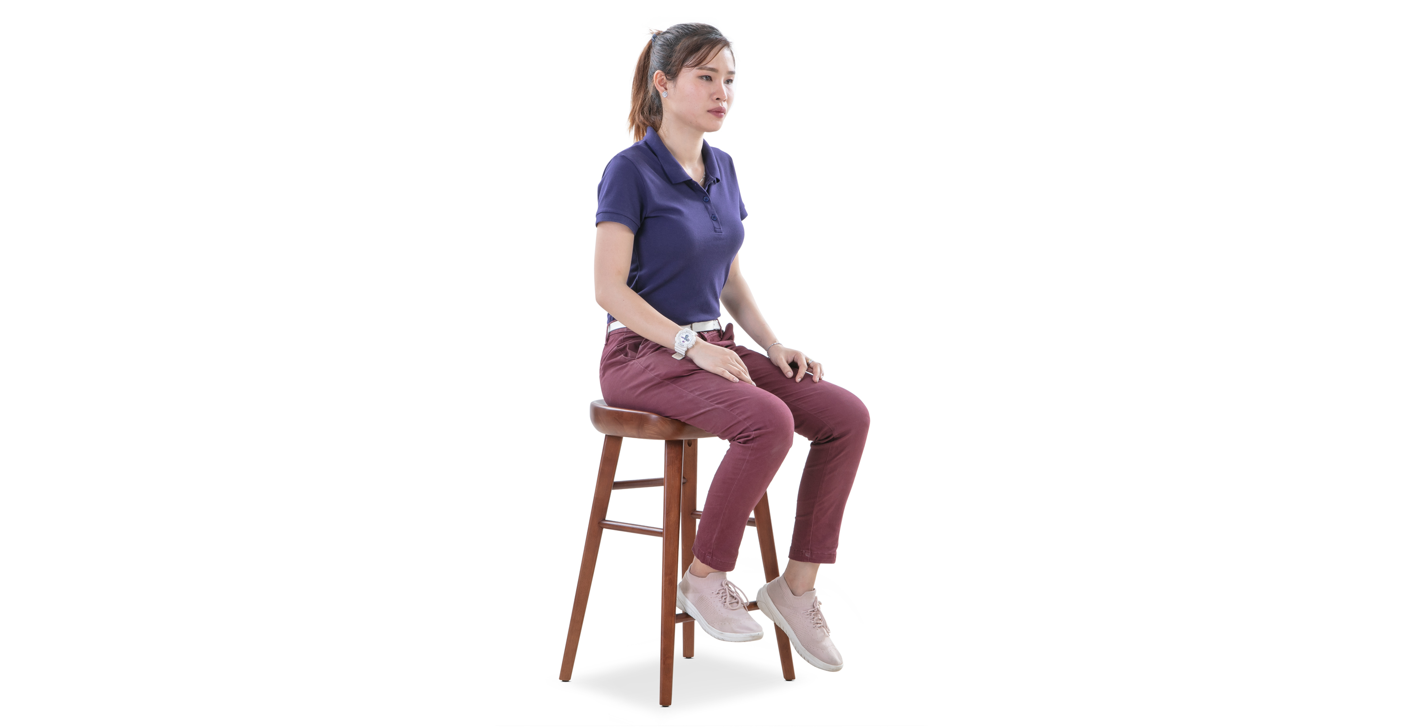 """Swell 16"""" Round Counterstool, Rubberwood"""