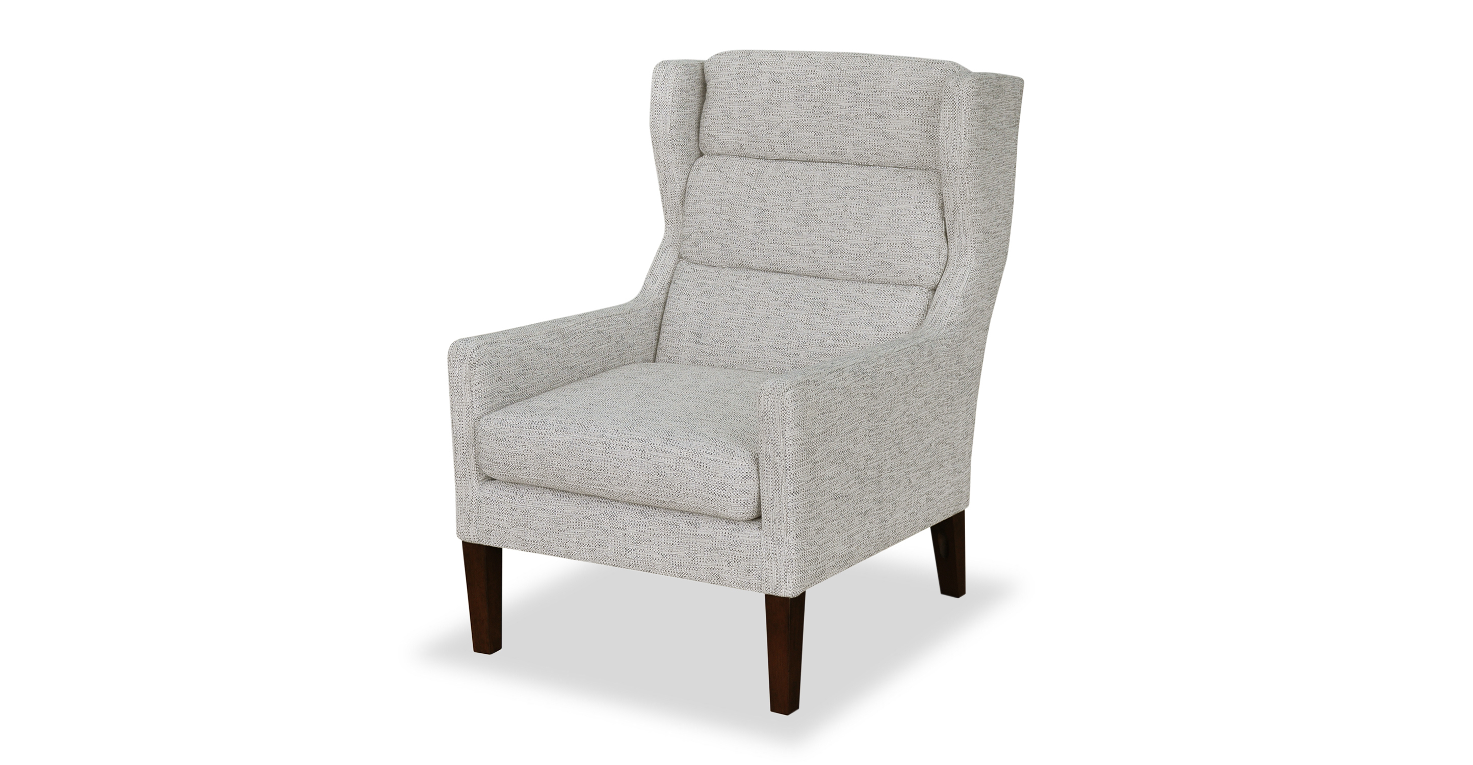 "Borge 26"" Wing Fabric Chair, Cliff Woven"