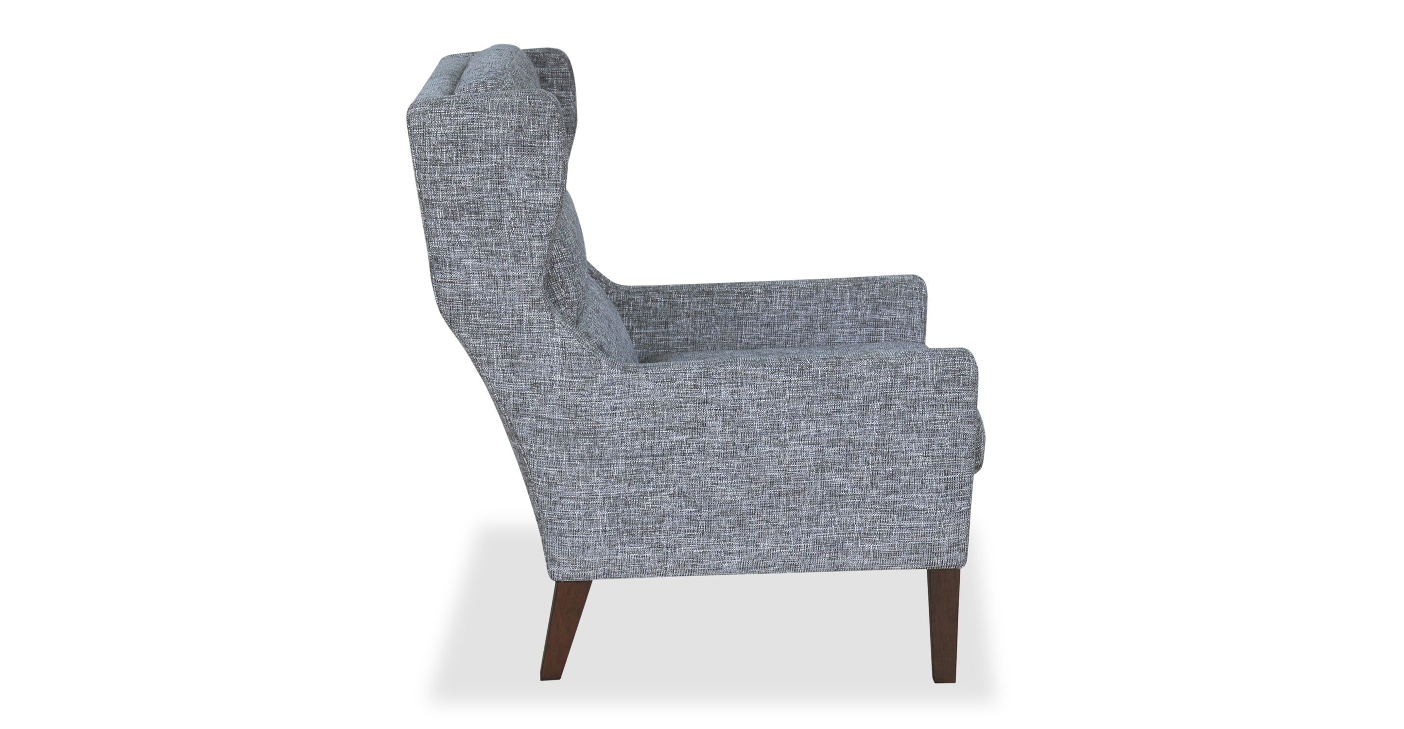 Borge Wing Fabric Chair, Iron Ore