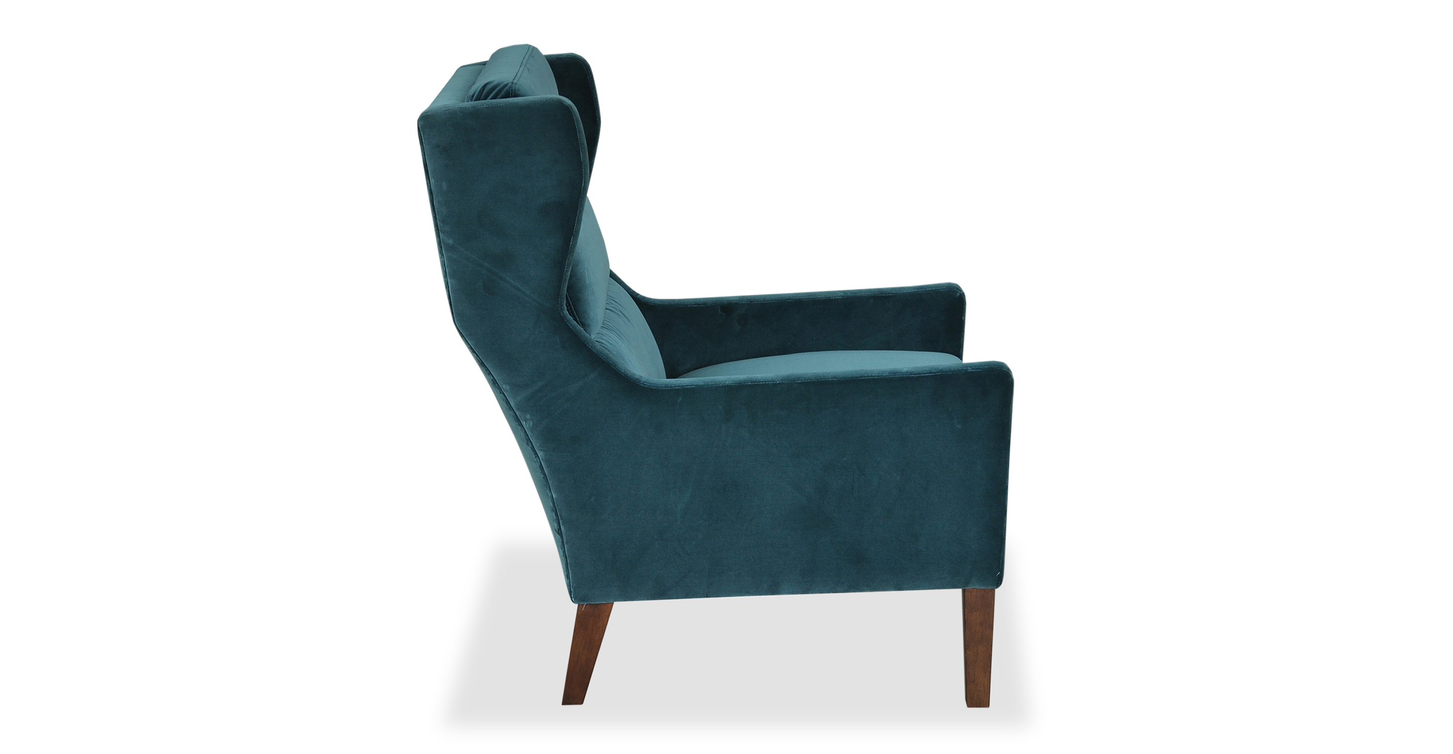 Borge Wing Fabric Chair, Tranquil Velvet