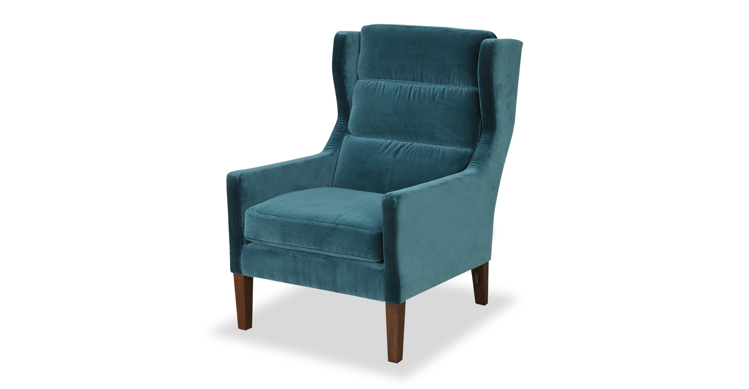 "Borge 26"" Wing Fabric Chair, Tranquil Velvet"