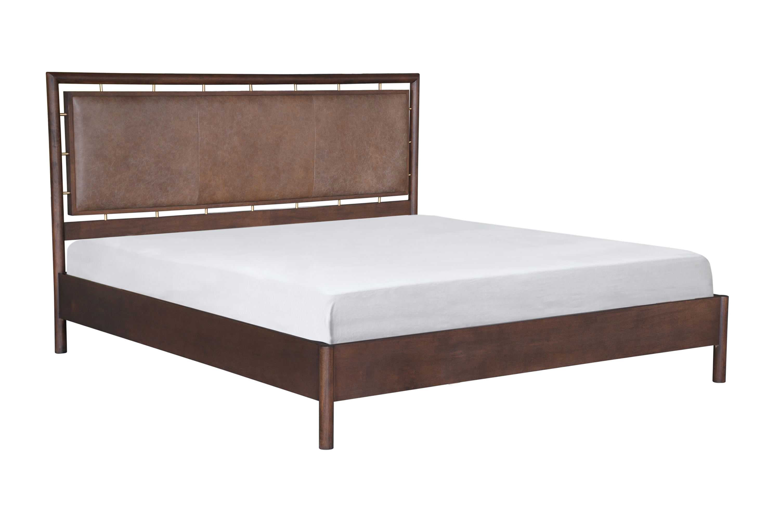 Westwood Bed King, Walnut/Napoli Tan