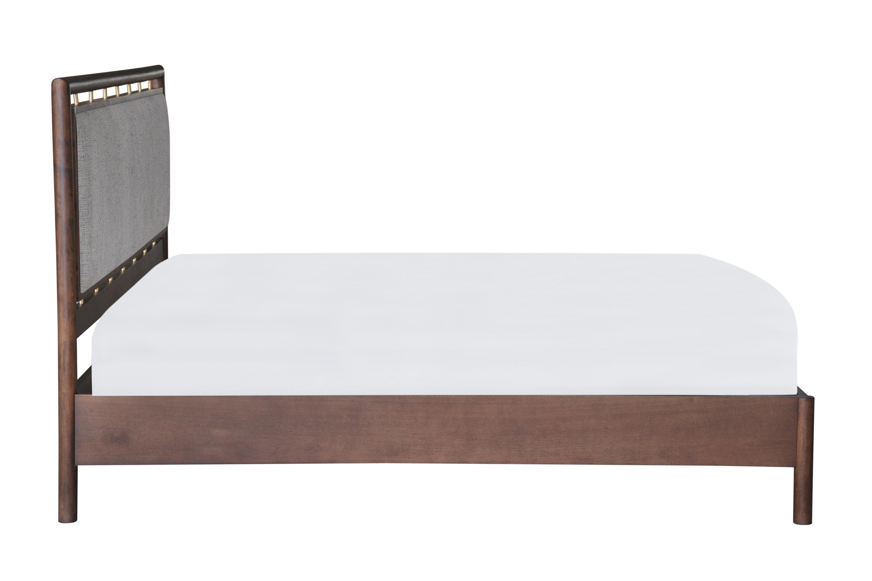 Westwood Bed King, Hessian Twill/Walnut