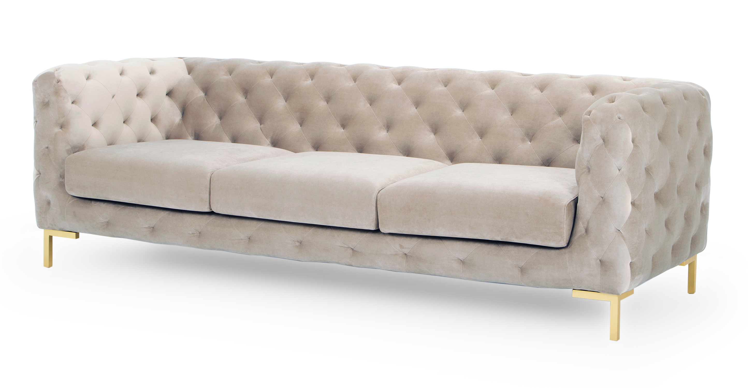 """Umbria 93"""" Fabric Sofa, Thunder Velvet"""