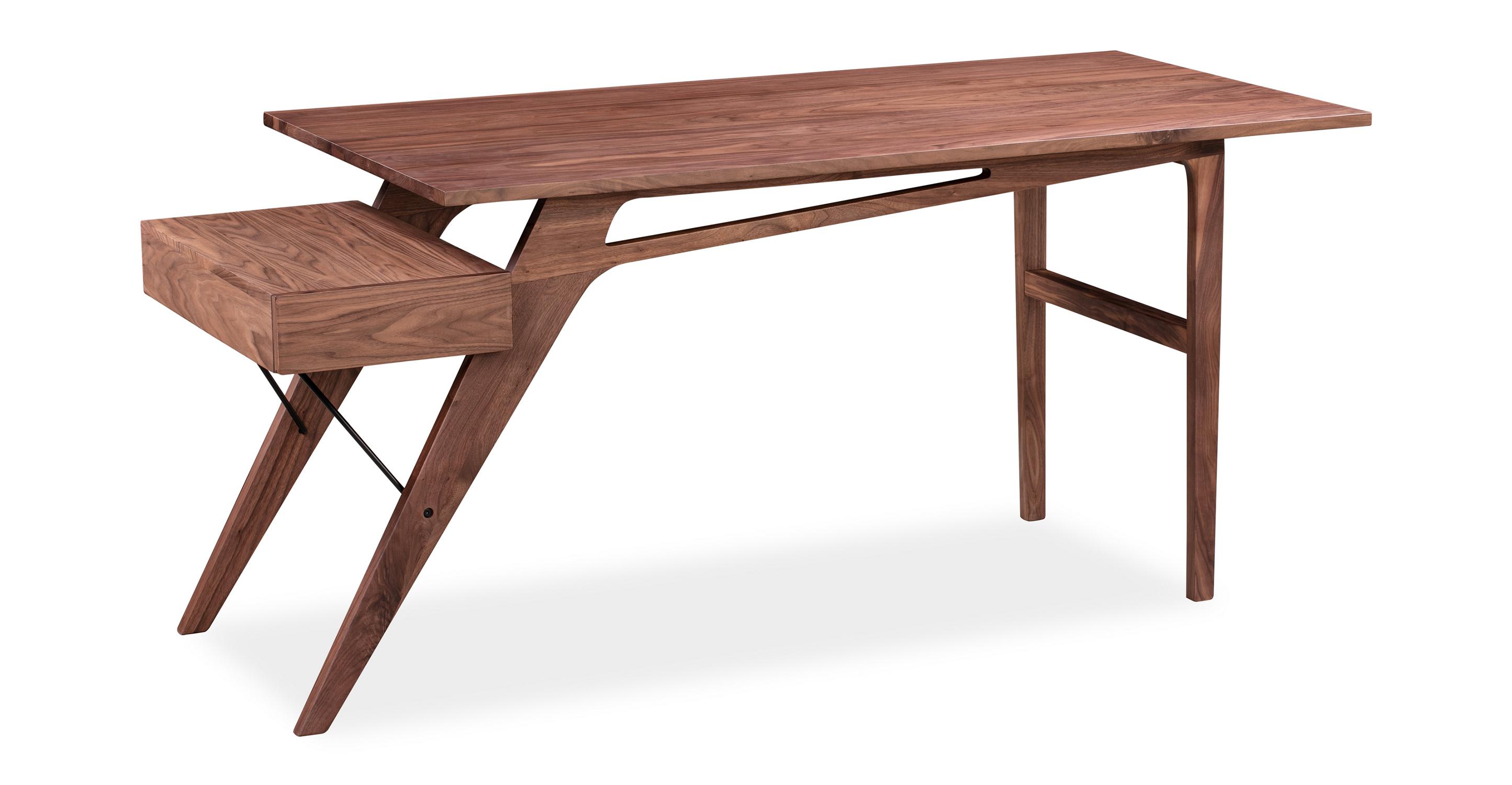"Protractor Jr. 67"" Desk, Walnut"