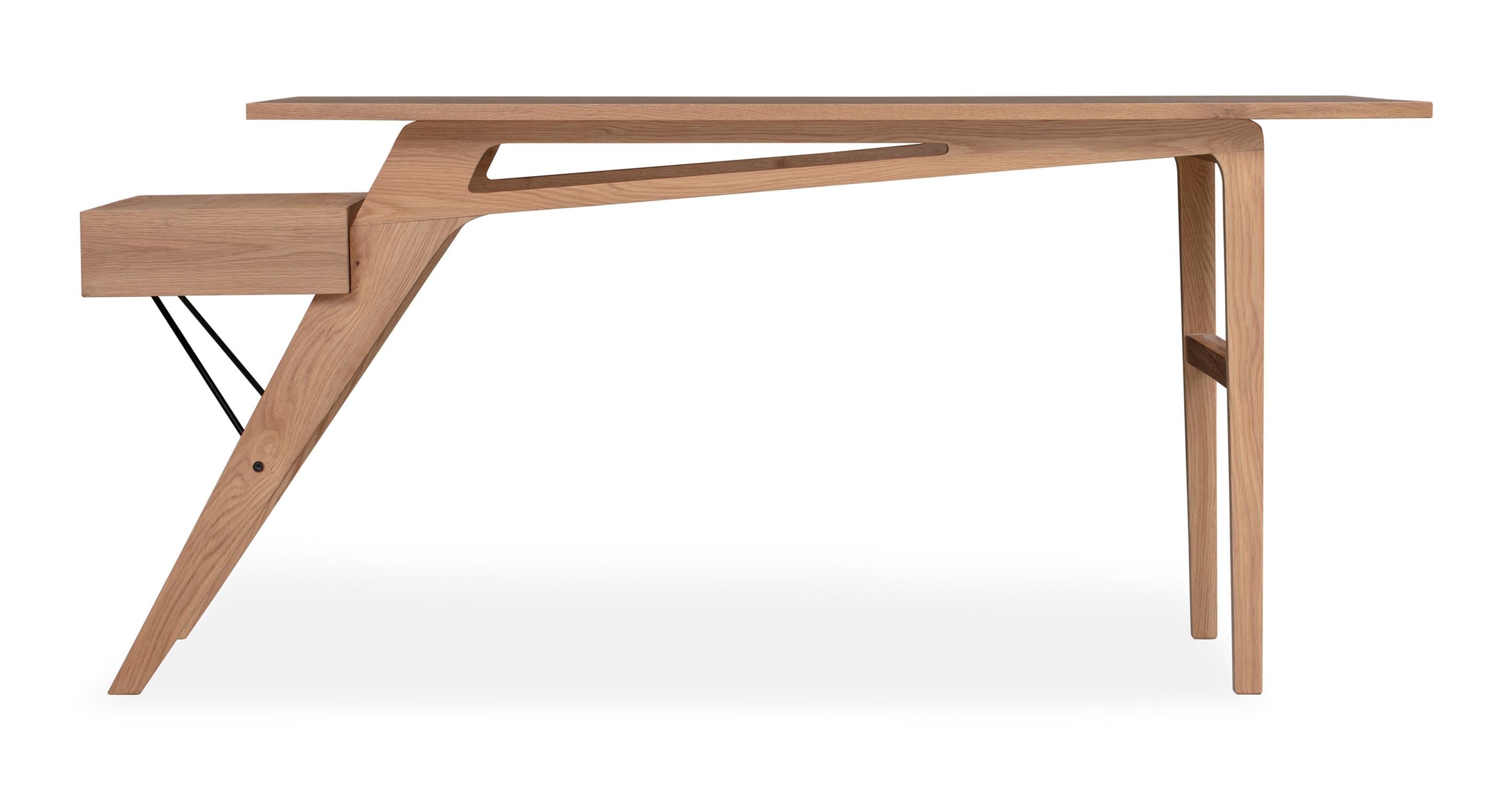 """Protractor Jr. 67"""" Desk, Natural Oak"""