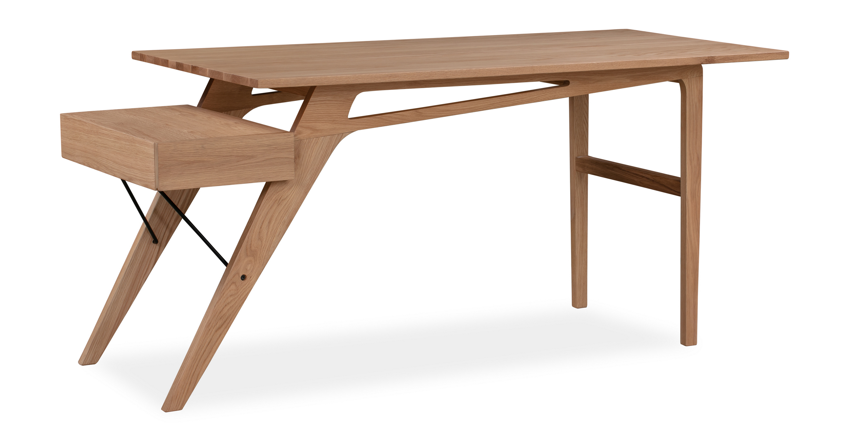 "Protractor Jr. 67"" Desk, Natural Oak"