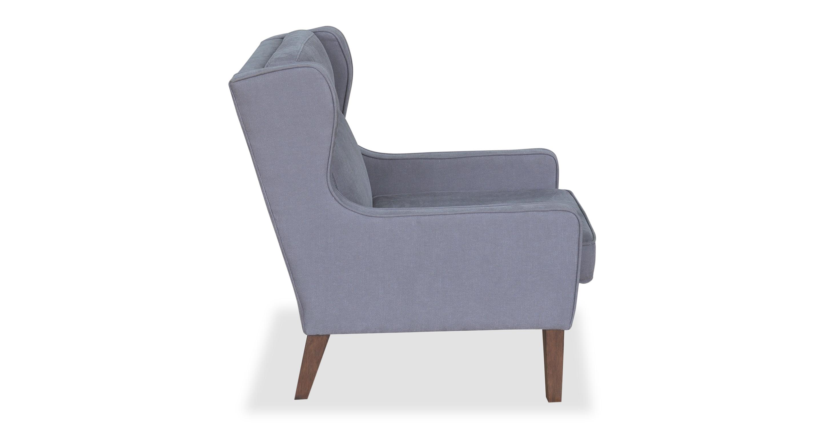 "Mogenson  27"" Wing Fabric Chair, Coal"