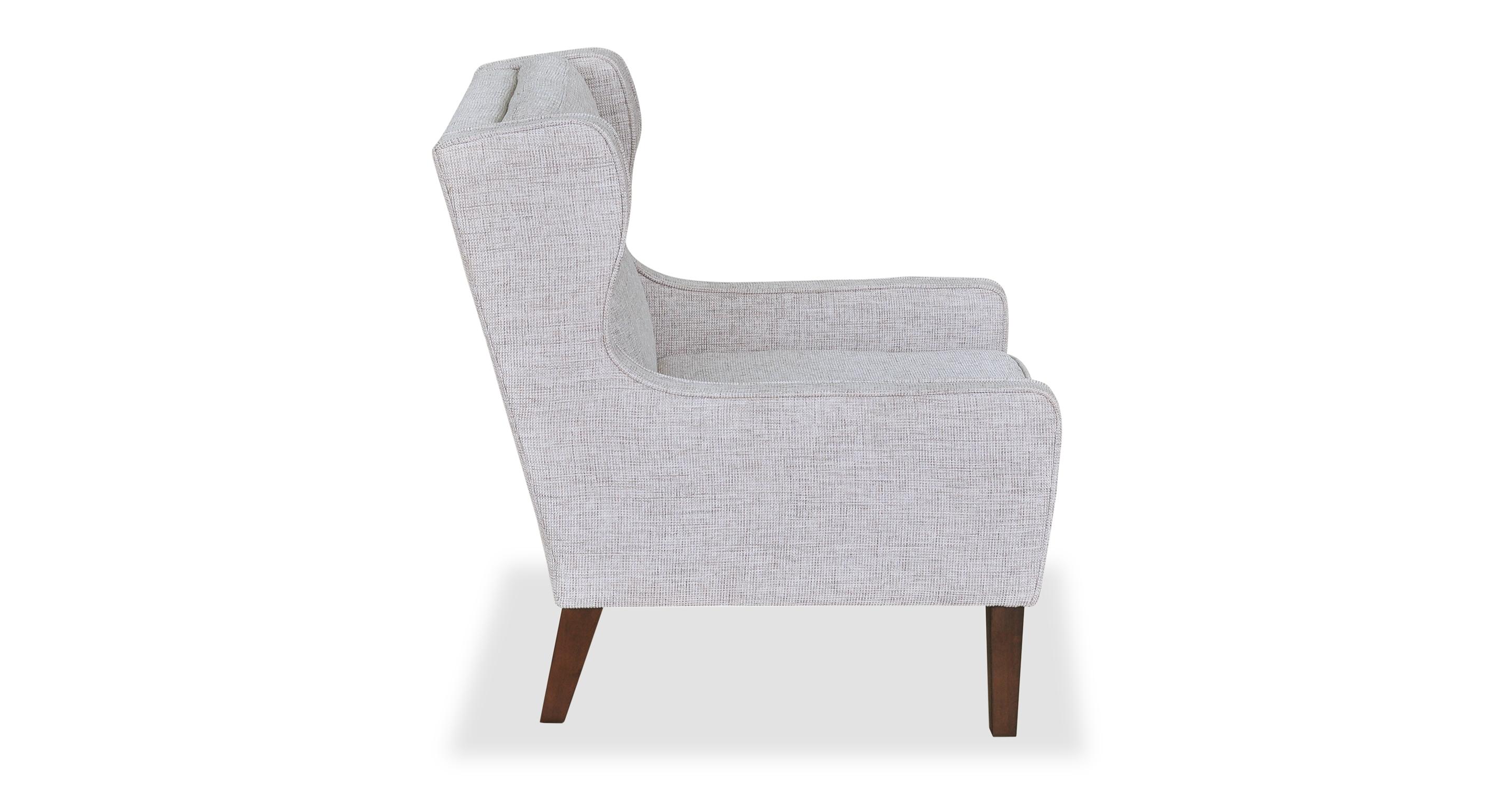 "Mogenson  27"" Wing Fabric Chair, Bone"