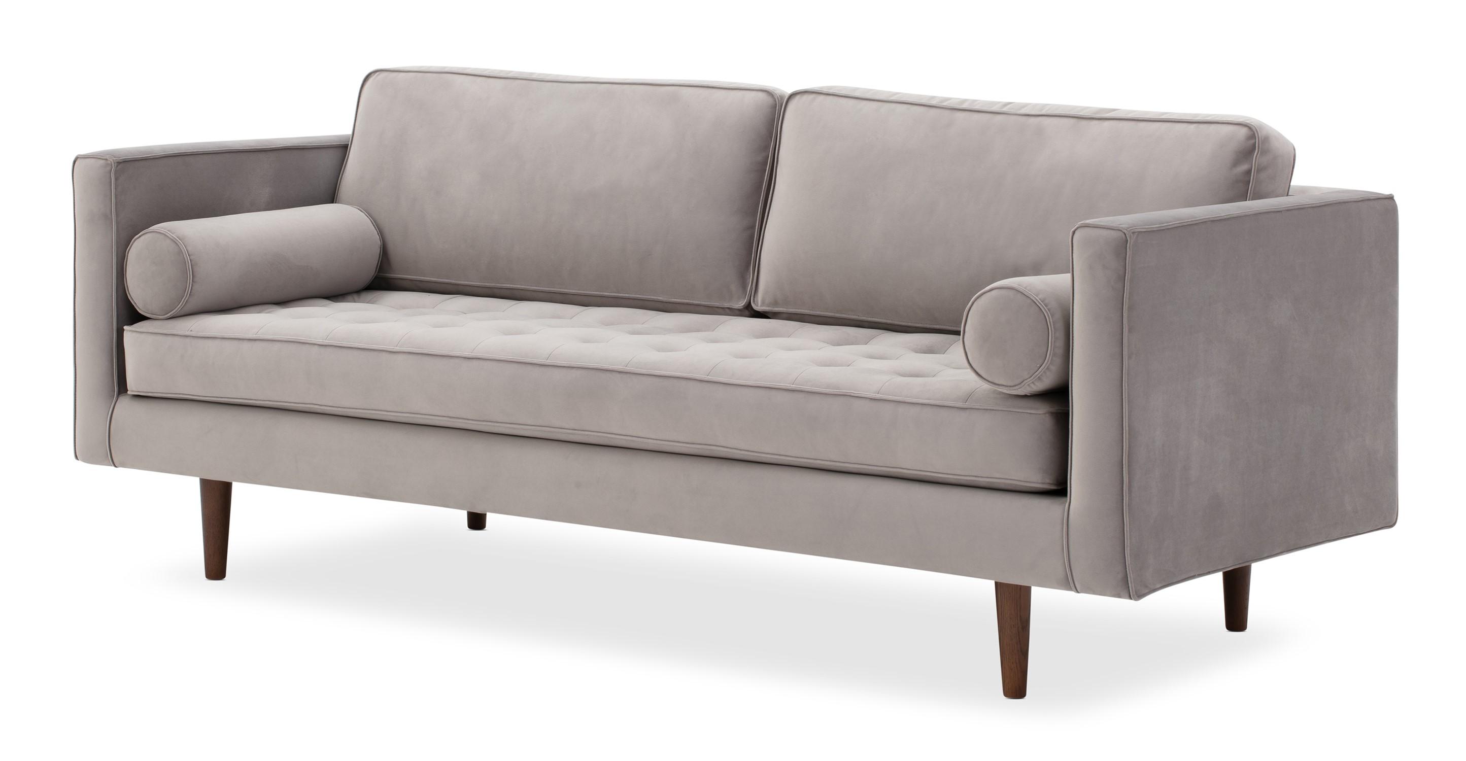 """Dwell 81"""" Sofa, Basalt Velvet"""