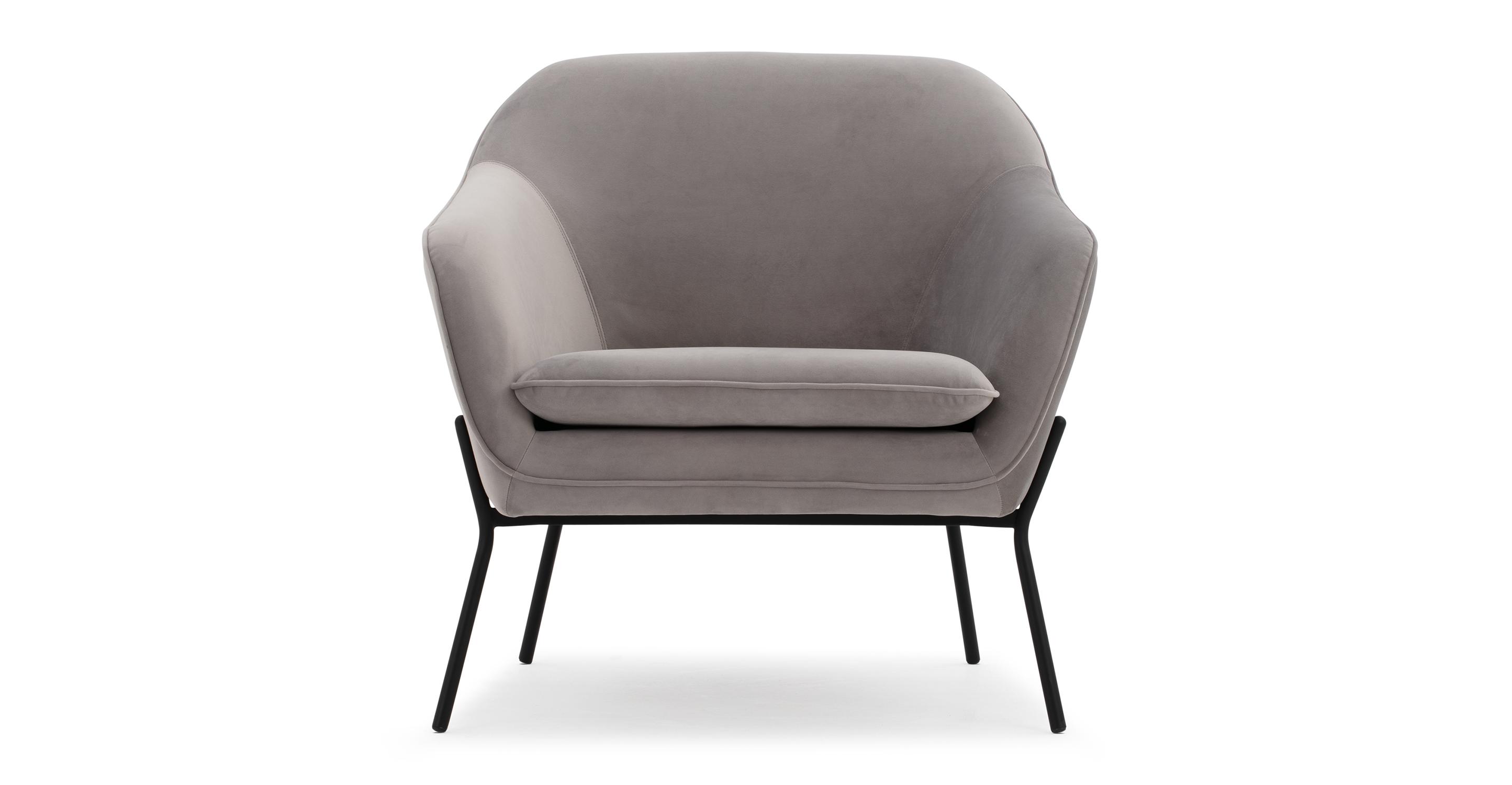"""Margot 33"""" Fabric Chair, Basalt Velvet"""