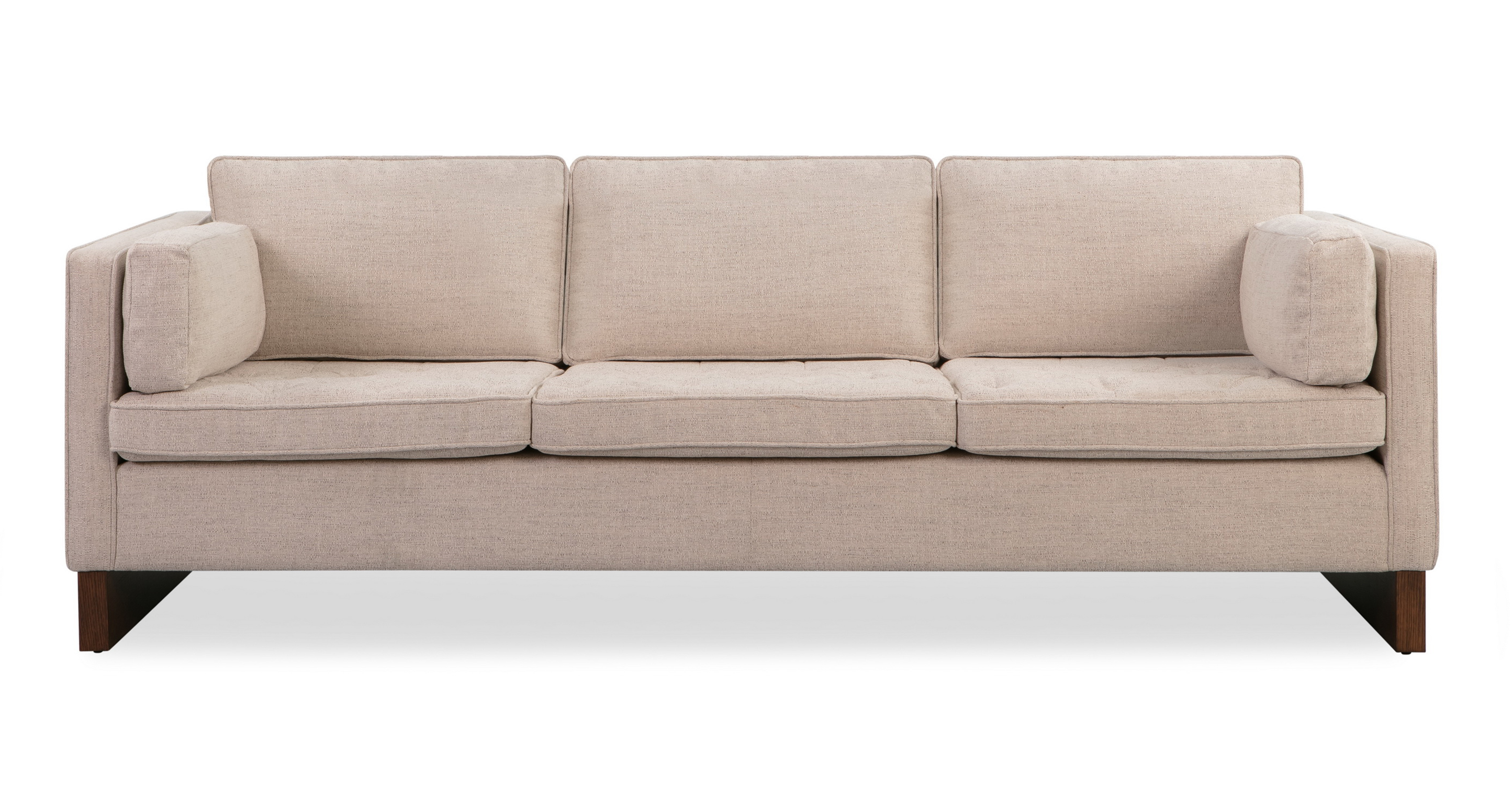 "Wexler 87"" Fabric Sofa, Oyster Woven"