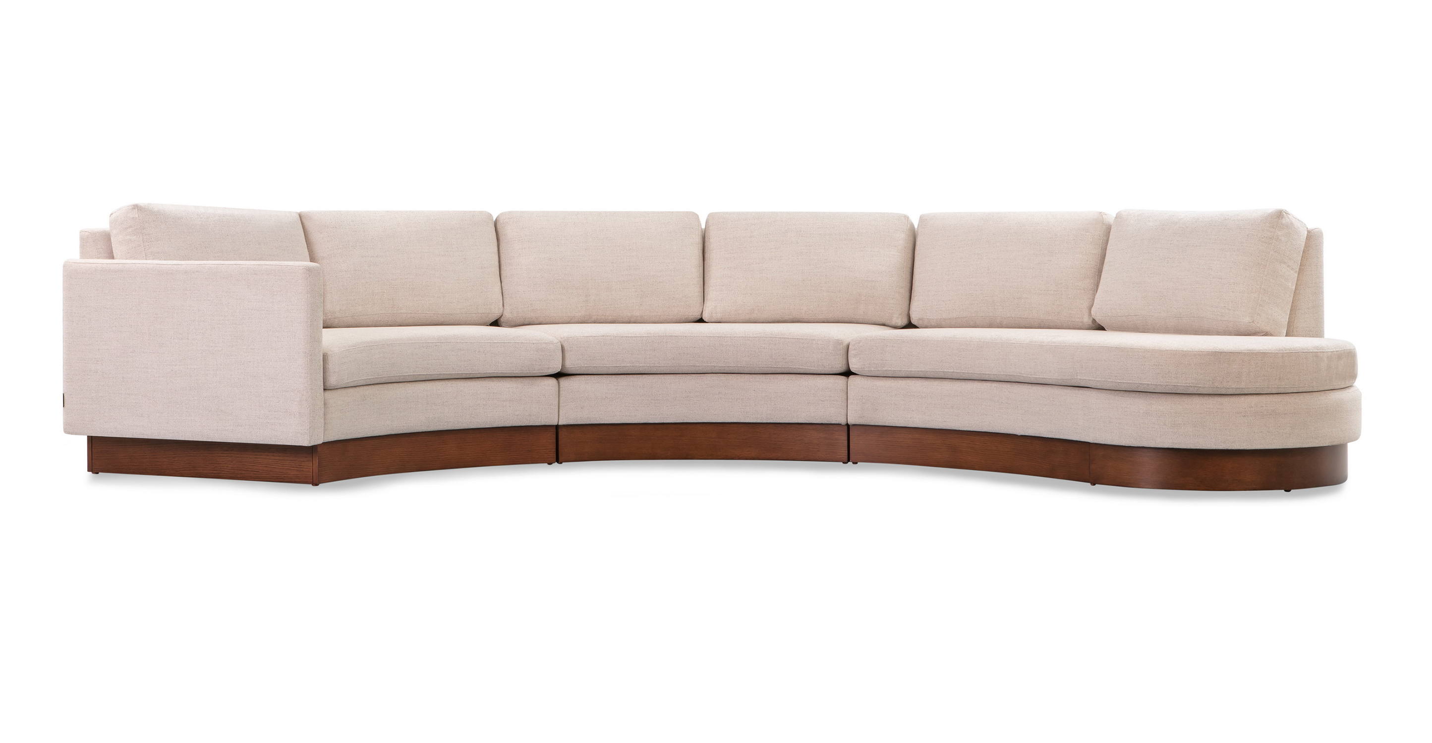 "Taylor 123"" Modular Fabric Sectional, Oyster Woven"